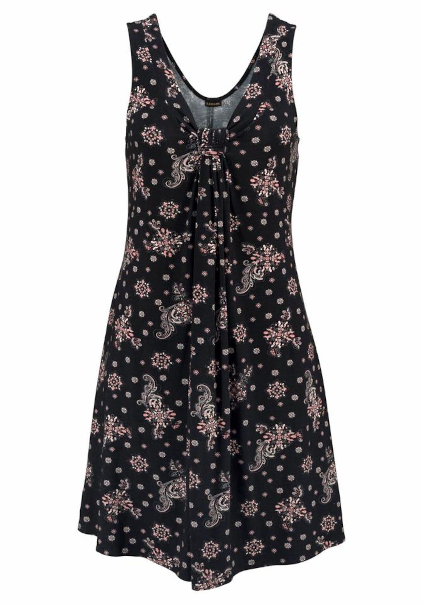 Plážové šaty starorůžová černá LASCANA