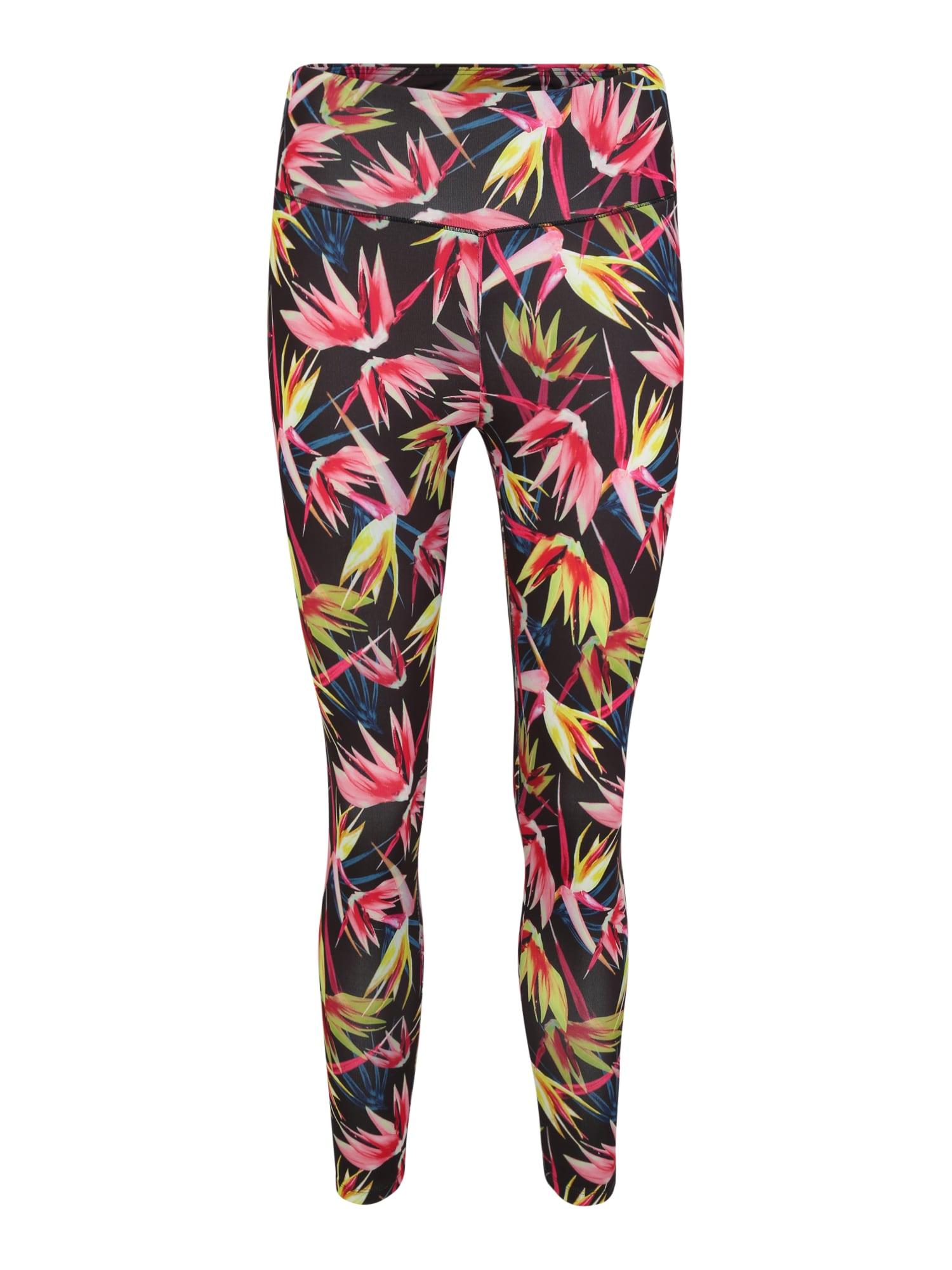 Sportovní kalhoty žlutá pink černá ESPRIT SPORTS