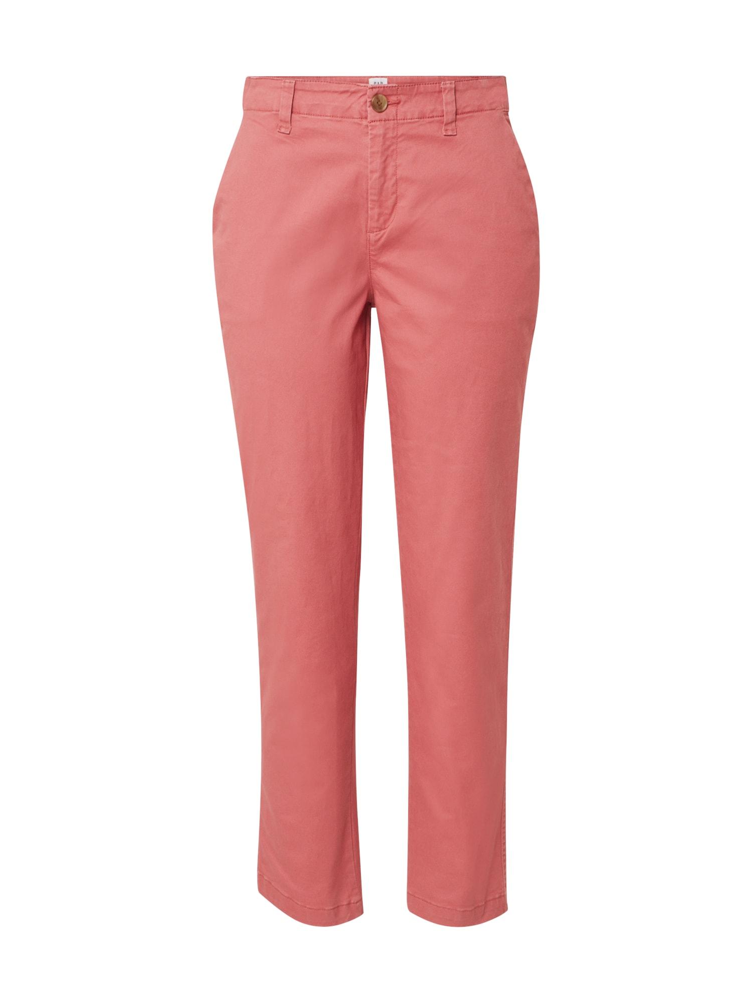 GAP Chino stiliaus kelnės 'GIRLFRIEND' rožinė