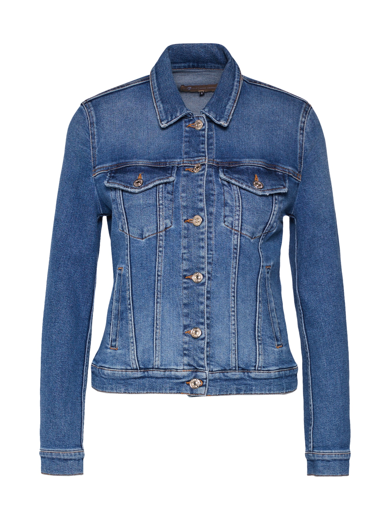 7 for all mankind Demisezoninė striukė 'MODERN TRUCKER LUXE VINTAGE' mėlyna