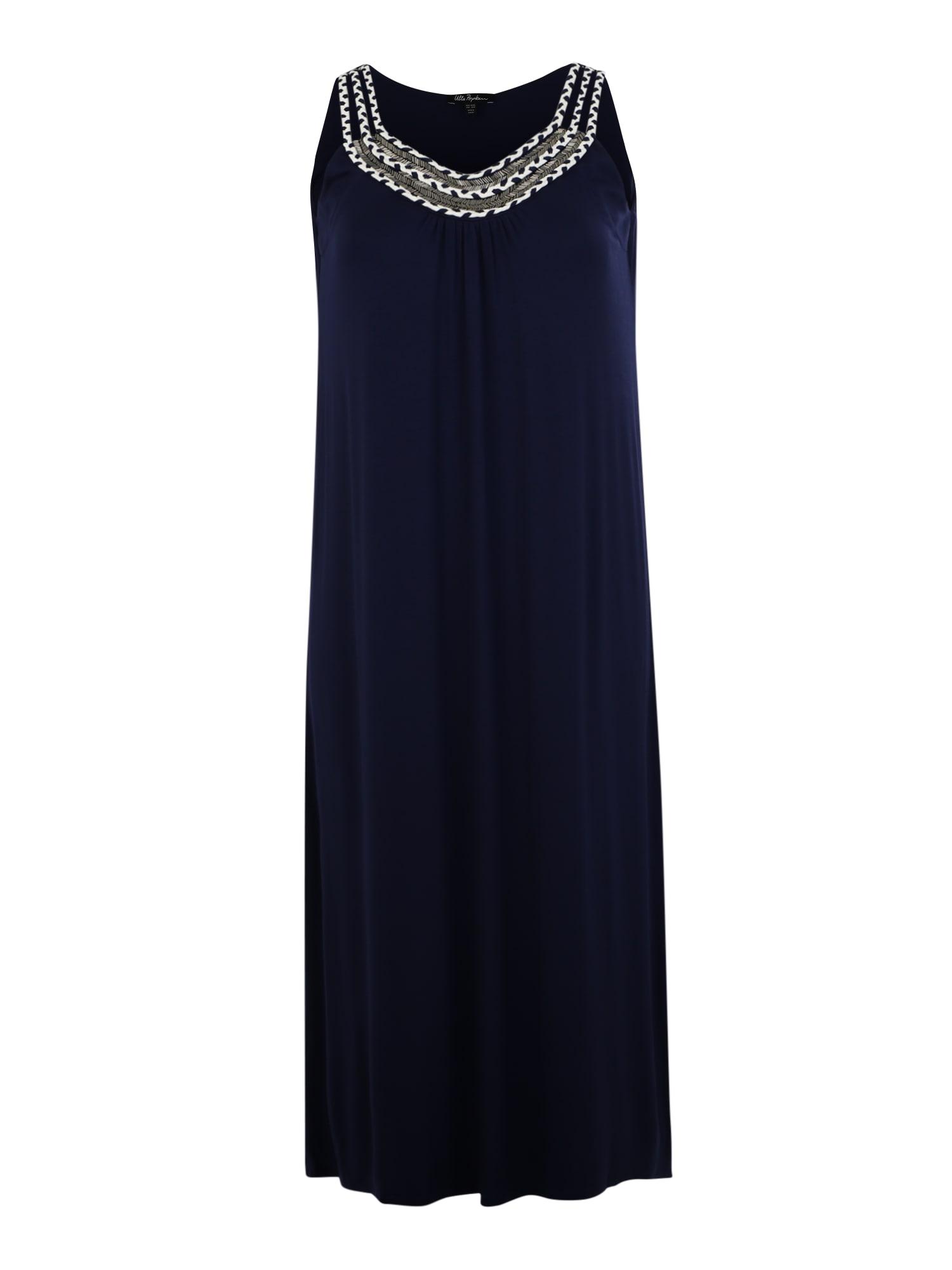 Letní šaty Kordel tmavě modrá bílá Ulla Popken