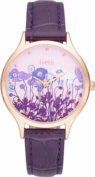 Uhren für Frauen - FIRETTI Quarzuhr rosegold aubergine  - Onlineshop ABOUT YOU