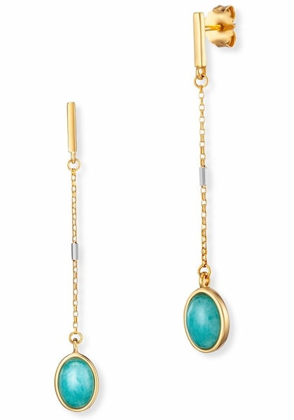 Ohrringe für Frauen - Caï CAÏ Paar Ohrstecker 'caï women, sea side, C1802E 90 G1 ' türkis gold silber  - Onlineshop ABOUT YOU