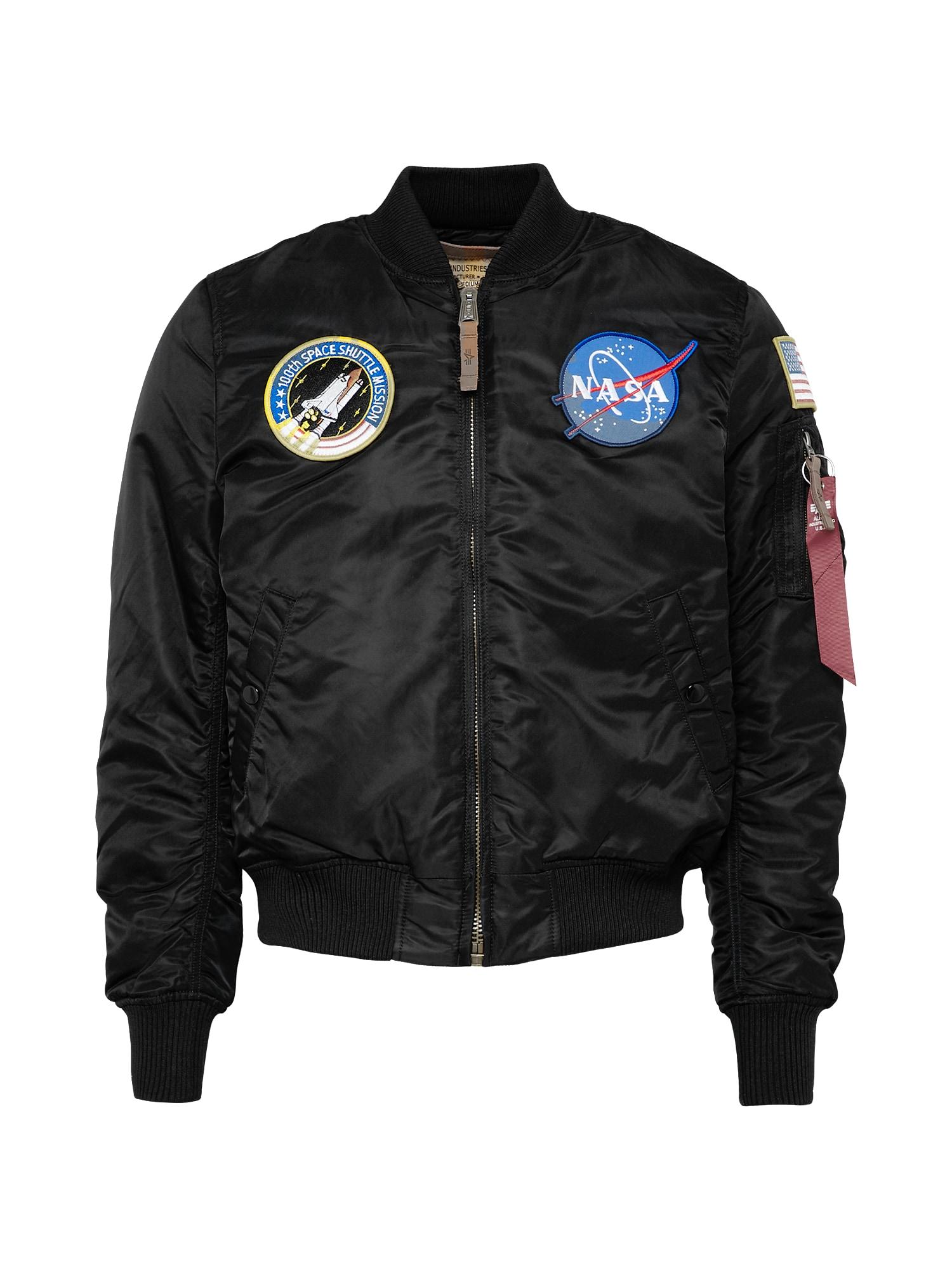 ALPHA INDUSTRIES Přechodná bunda 'MA-1 VF NASA'  černá