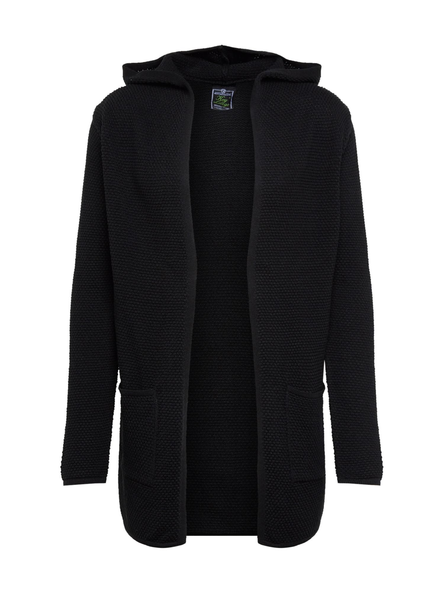 Key Largo Kardiganas 'MST TRANSFORMER jacket' juoda