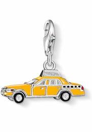 THOMAS SABO Damen Charm-Einhänger Gelbes Taxi 1067-007-4 gelb,schwarz,silber | 04051245123852