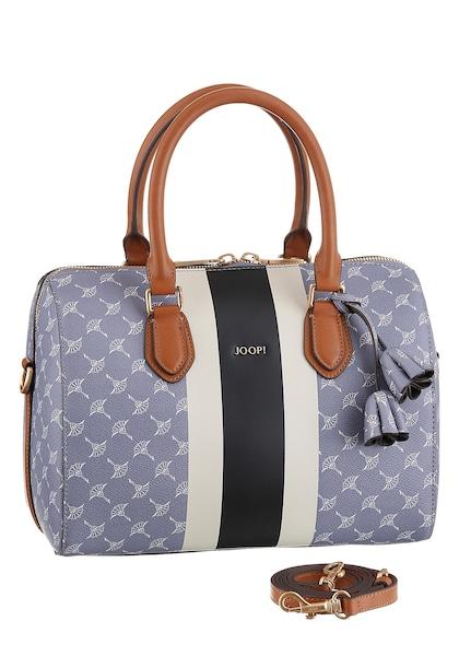 Handtaschen für Frauen - Henkeltasche 'Cortina due Aurora' › Joop! › rauchblau dunkelblau cognac weiß  - Onlineshop ABOUT YOU