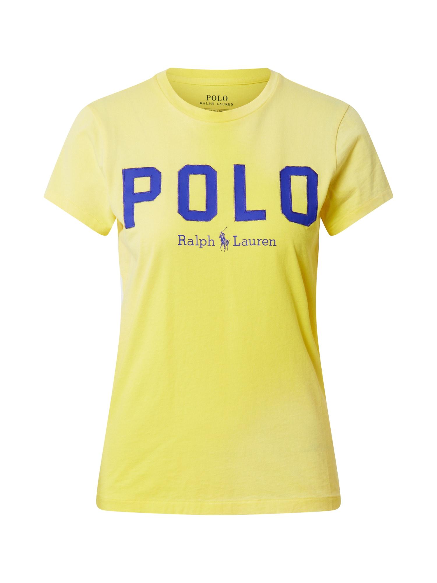 POLO RALPH LAUREN Tričko  žlté / tmavomodrá