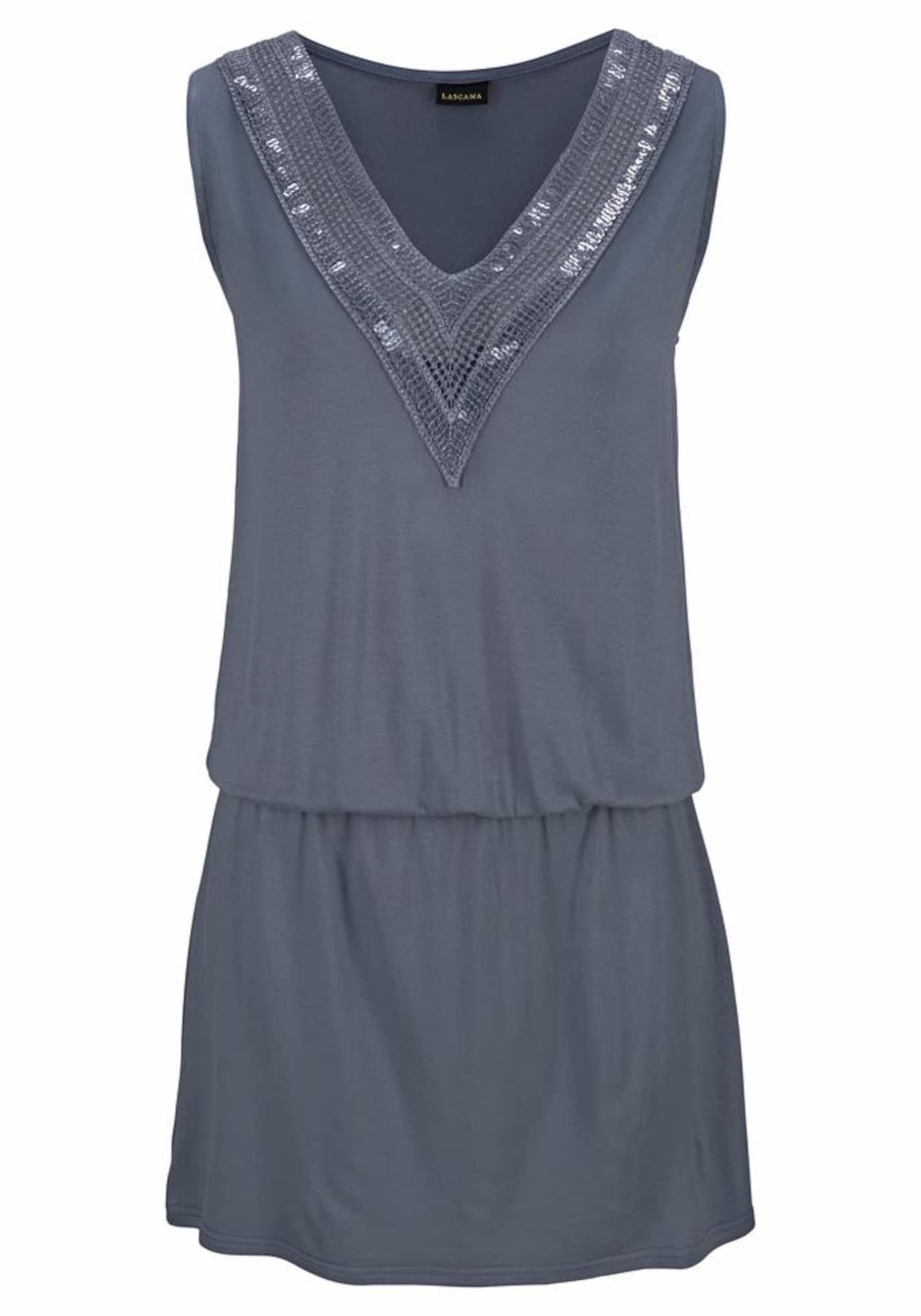 LASCANA Paplūdimio suknelė bazalto pilka