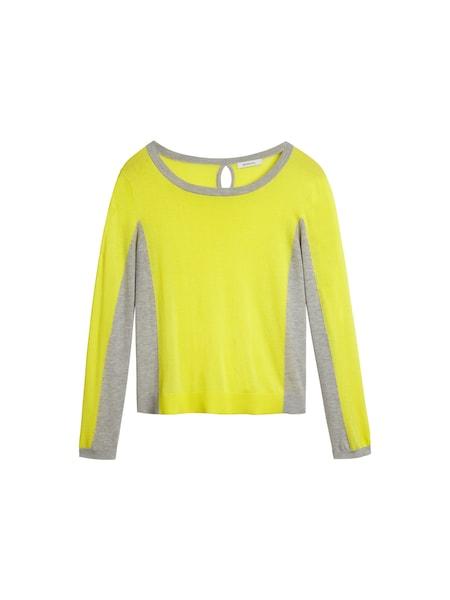 Oberteile für Frauen - Sandwich Colour Block Pullover dunkelbeige gelb  - Onlineshop ABOUT YOU