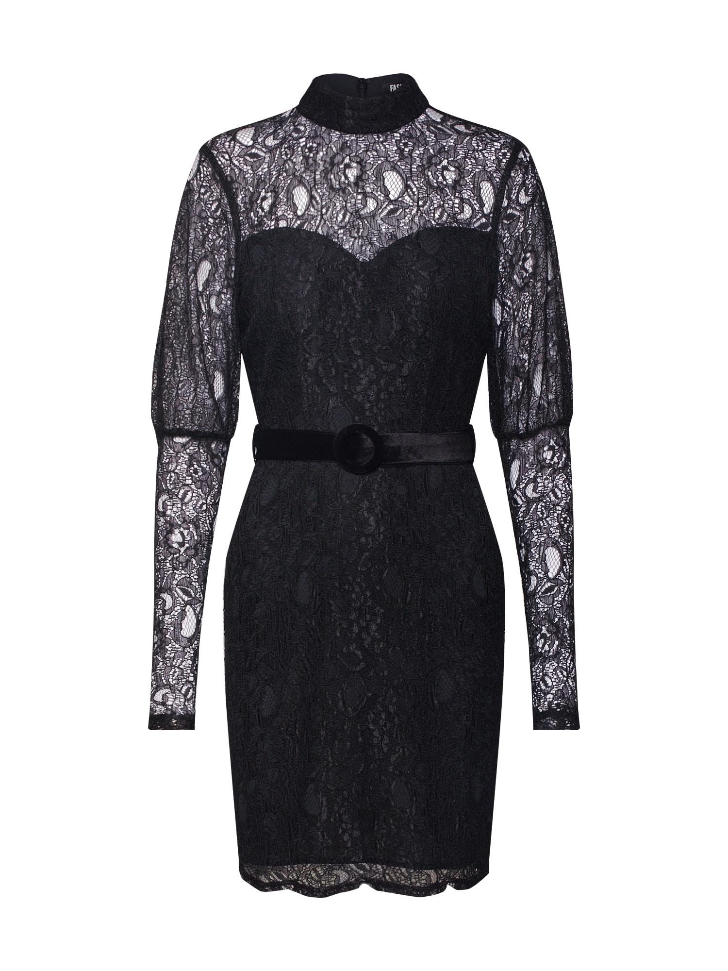 Fashion Union Vakarinė suknelė 'MARGERINE' juoda