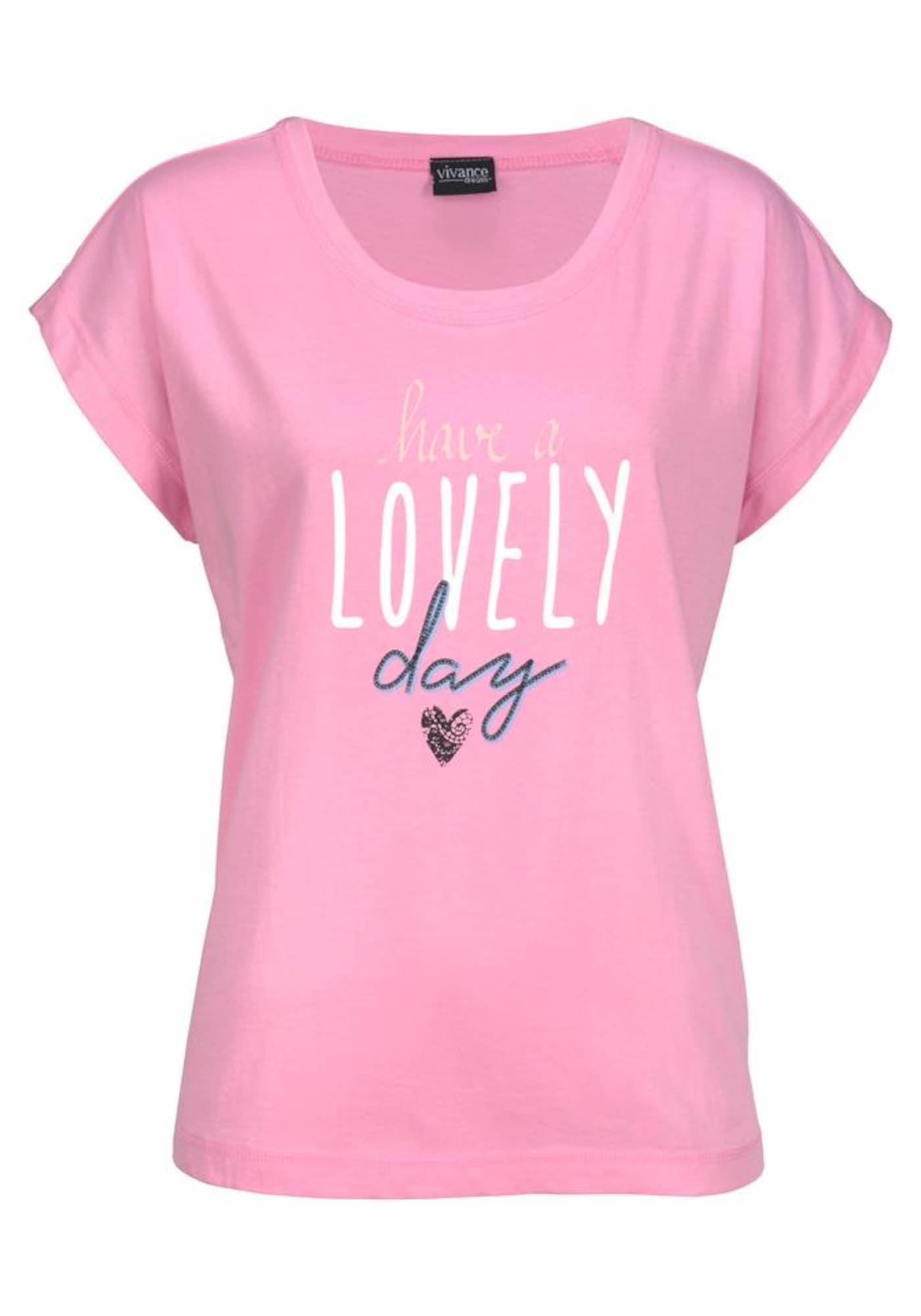VIVANCE Pižaminiai marškinėliai rožinė