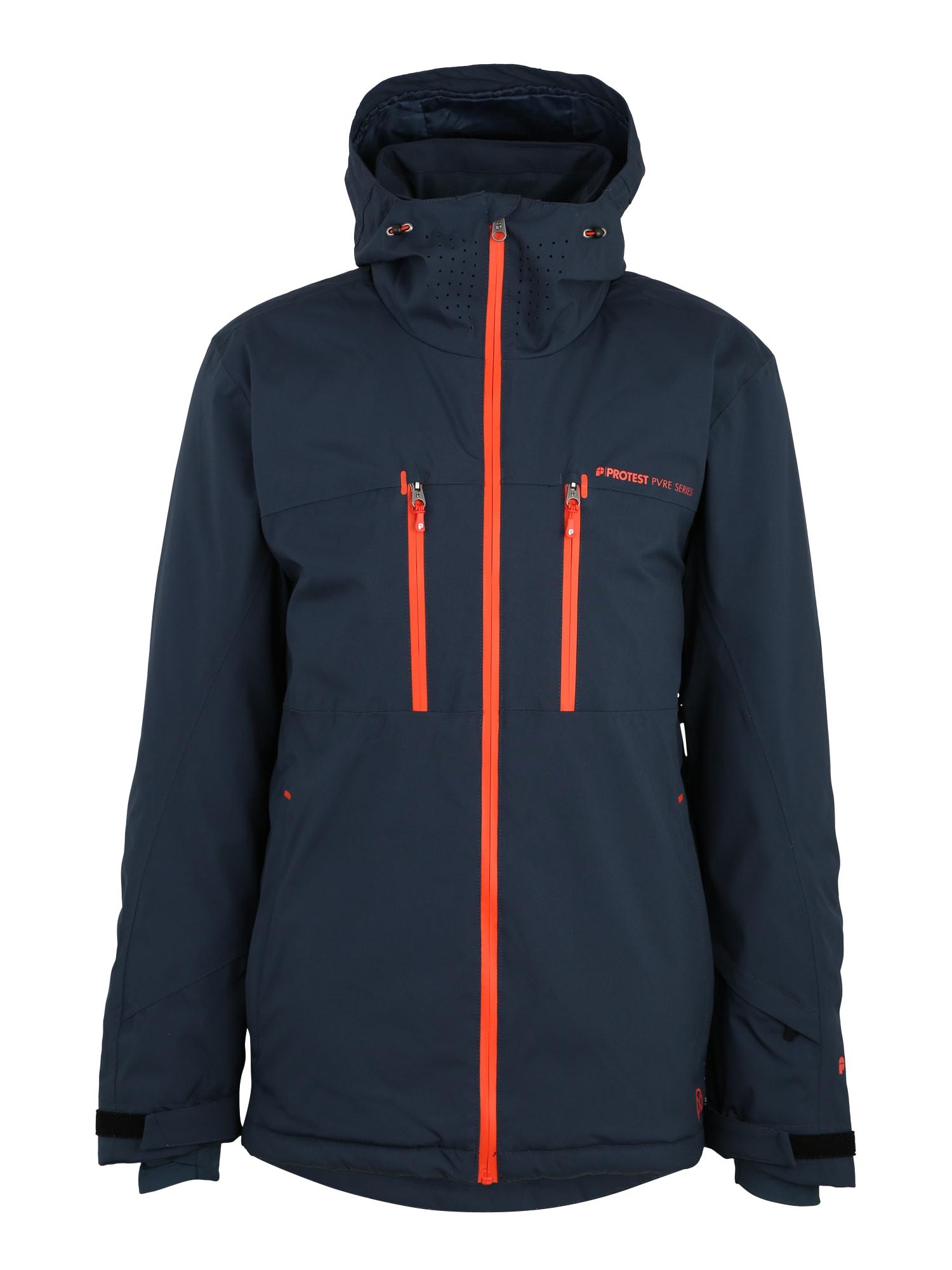 Sportovní bunda Clavin tmavě modrá jasně oranžová PROTEST