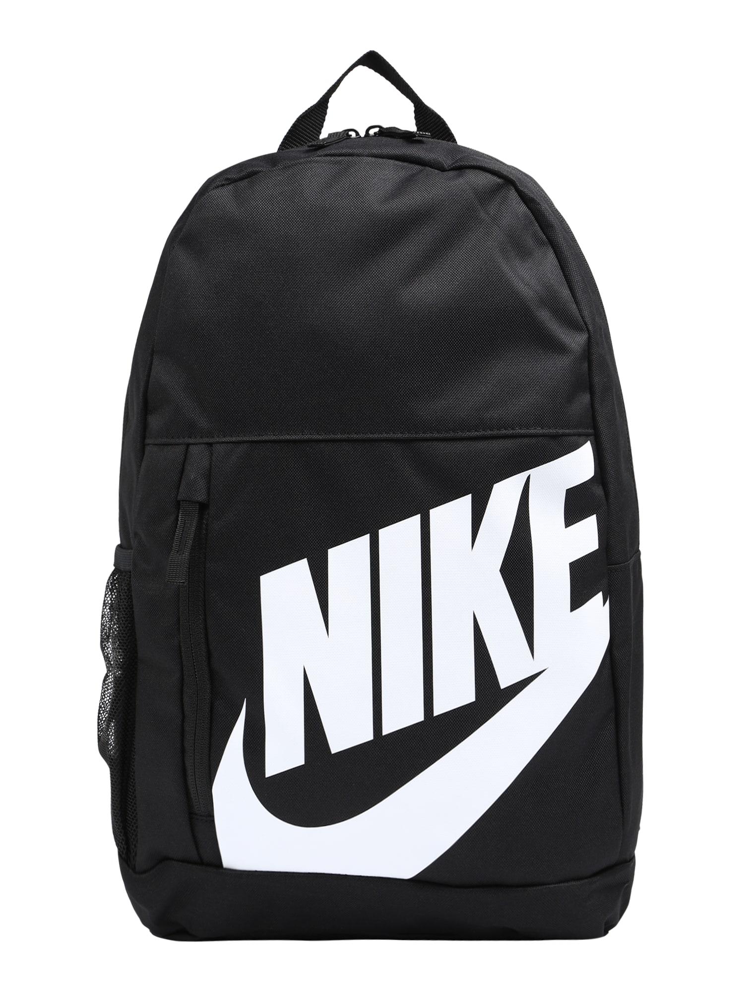 Nike Sportswear Kuprinė juoda / balta