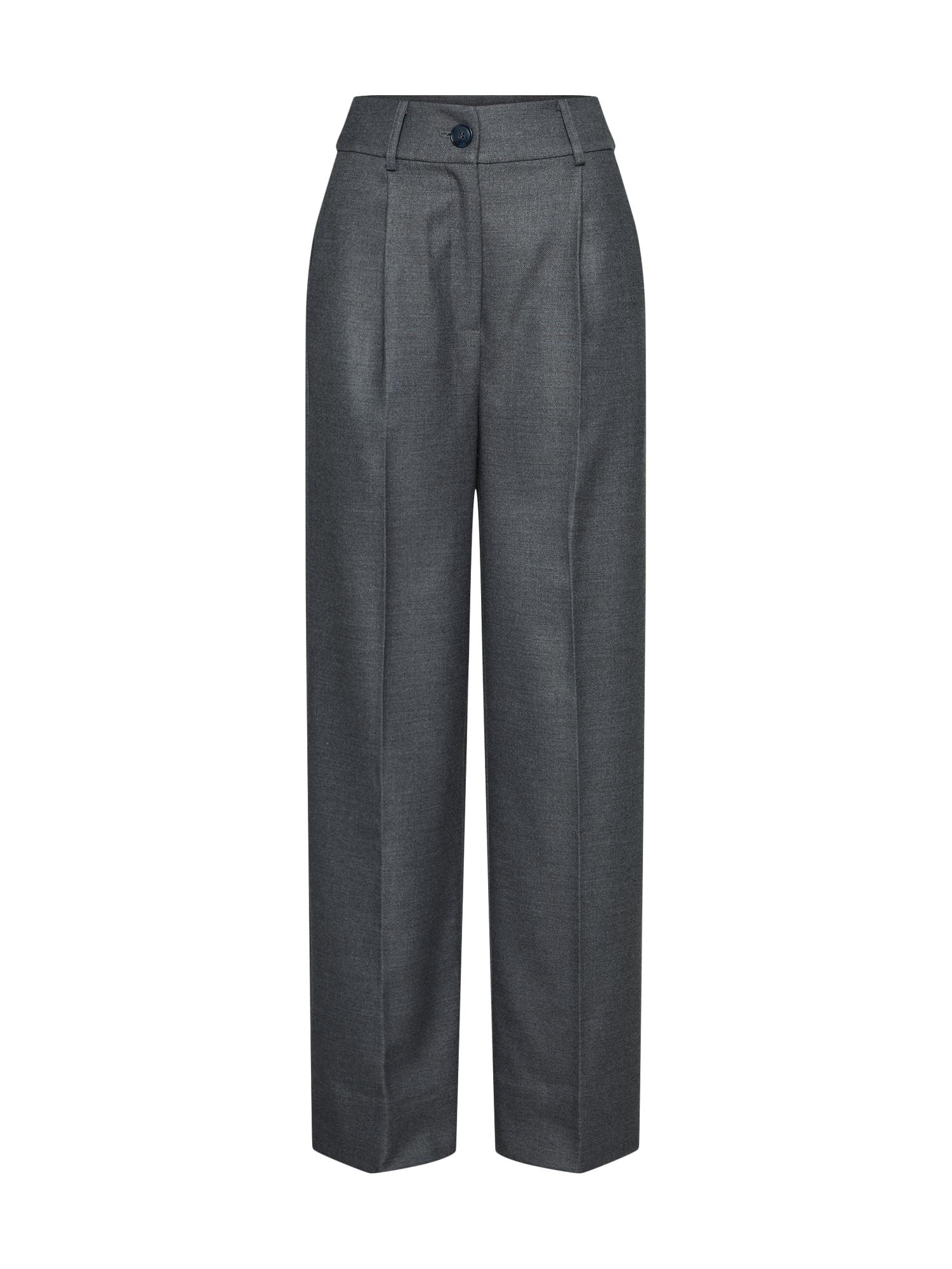 EDITED Klostuotos kelnės 'Neville' margai pilka