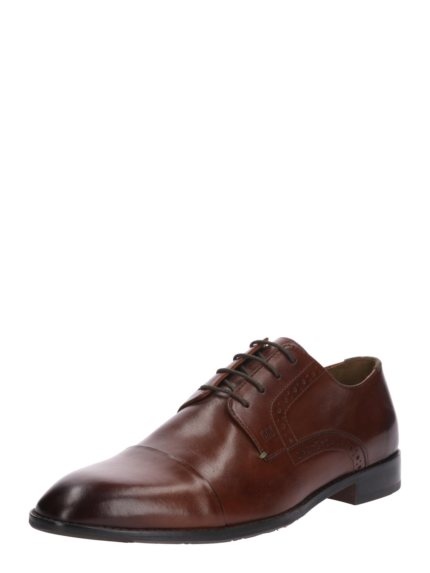 Šněrovací boty Mirco tmavě hnědá Gordon & Bros