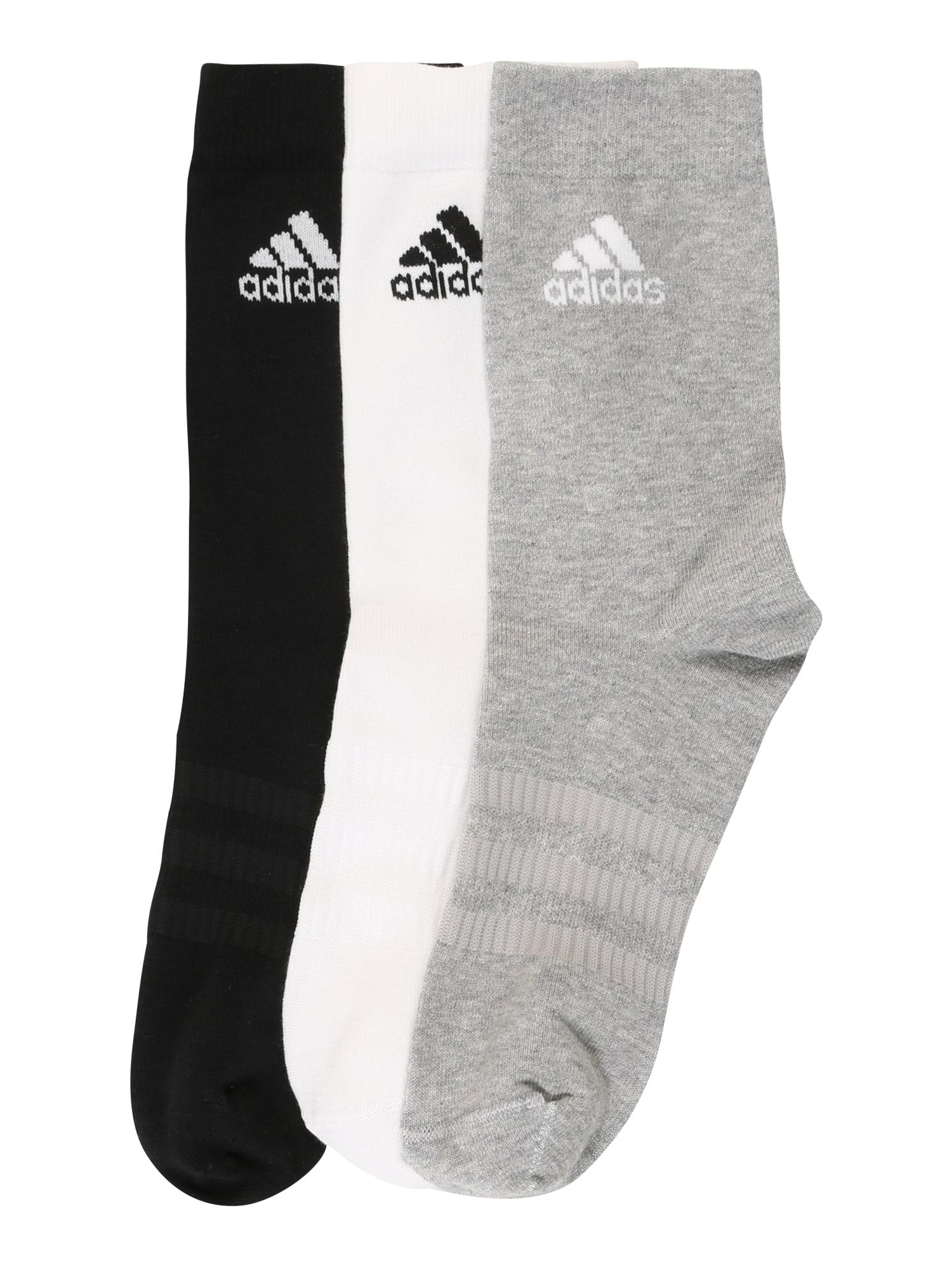 ADIDAS PERFORMANCE Sportinės kojinės 'LIGHT CREW 3PP' juoda / pilka / balta