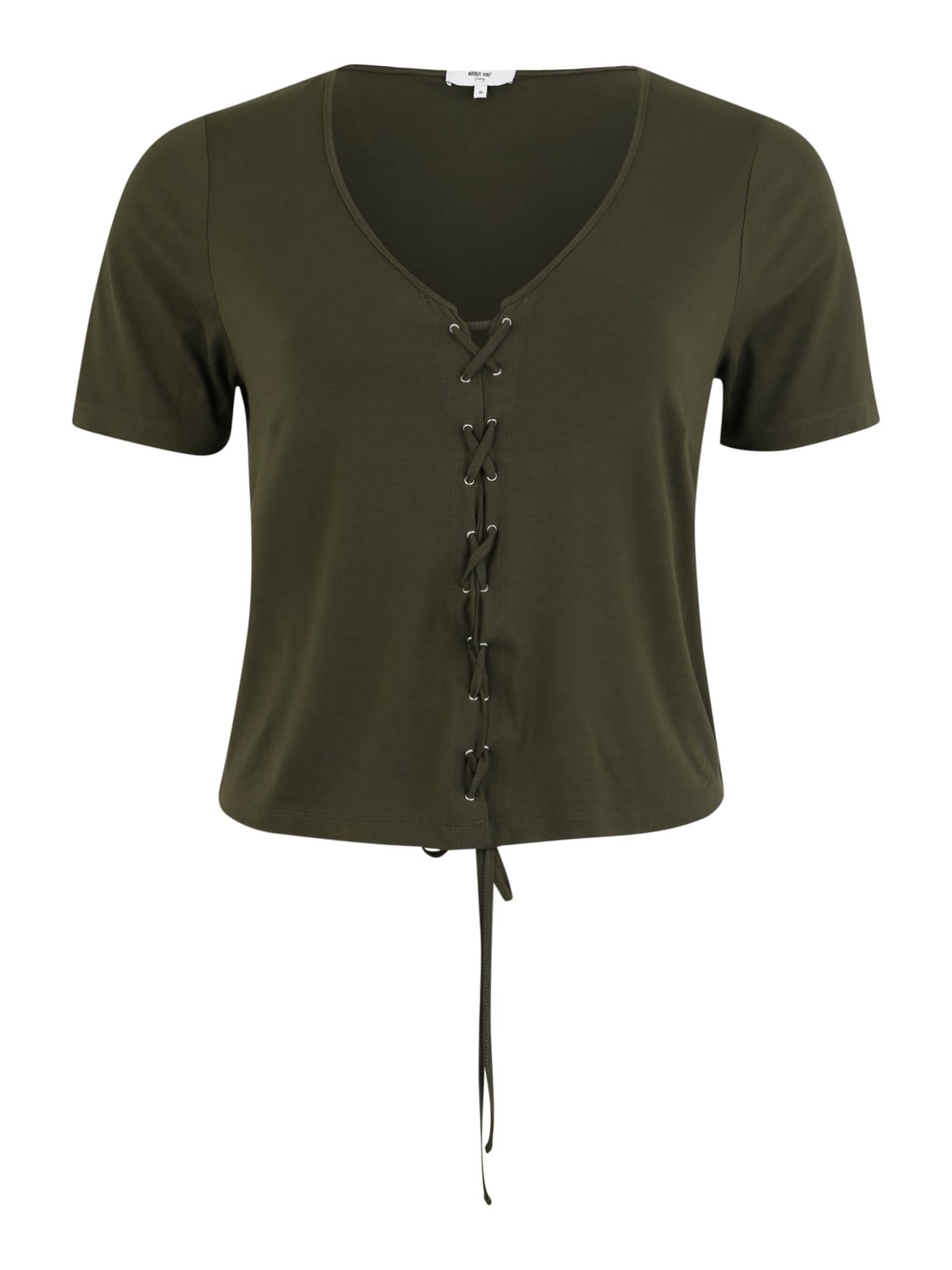 ABOUT YOU Curvy Marškinėliai 'Tania' rusvai žalia