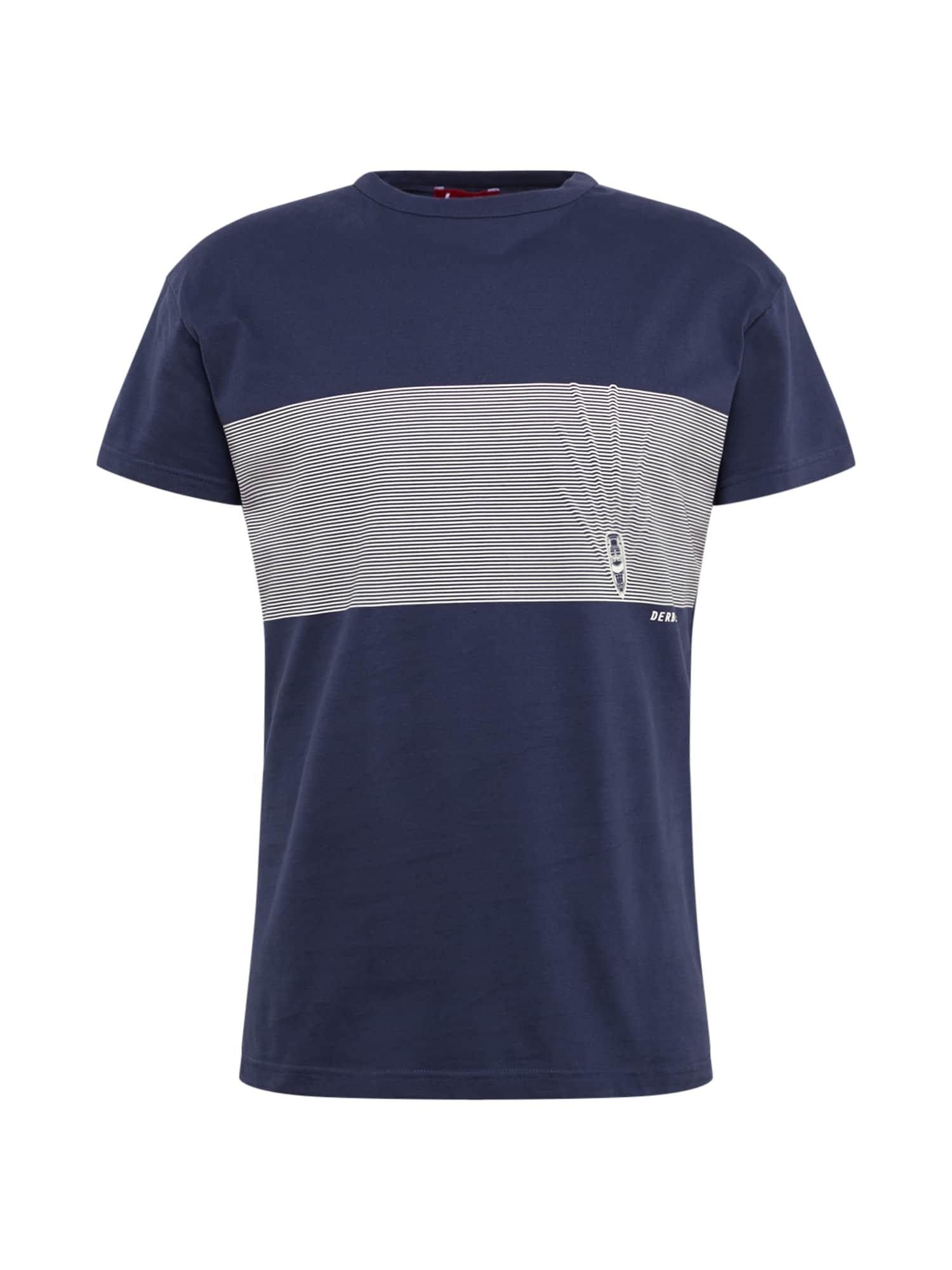 Derbe Marškinėliai 'Kink OC' pilka / tamsiai mėlyna
