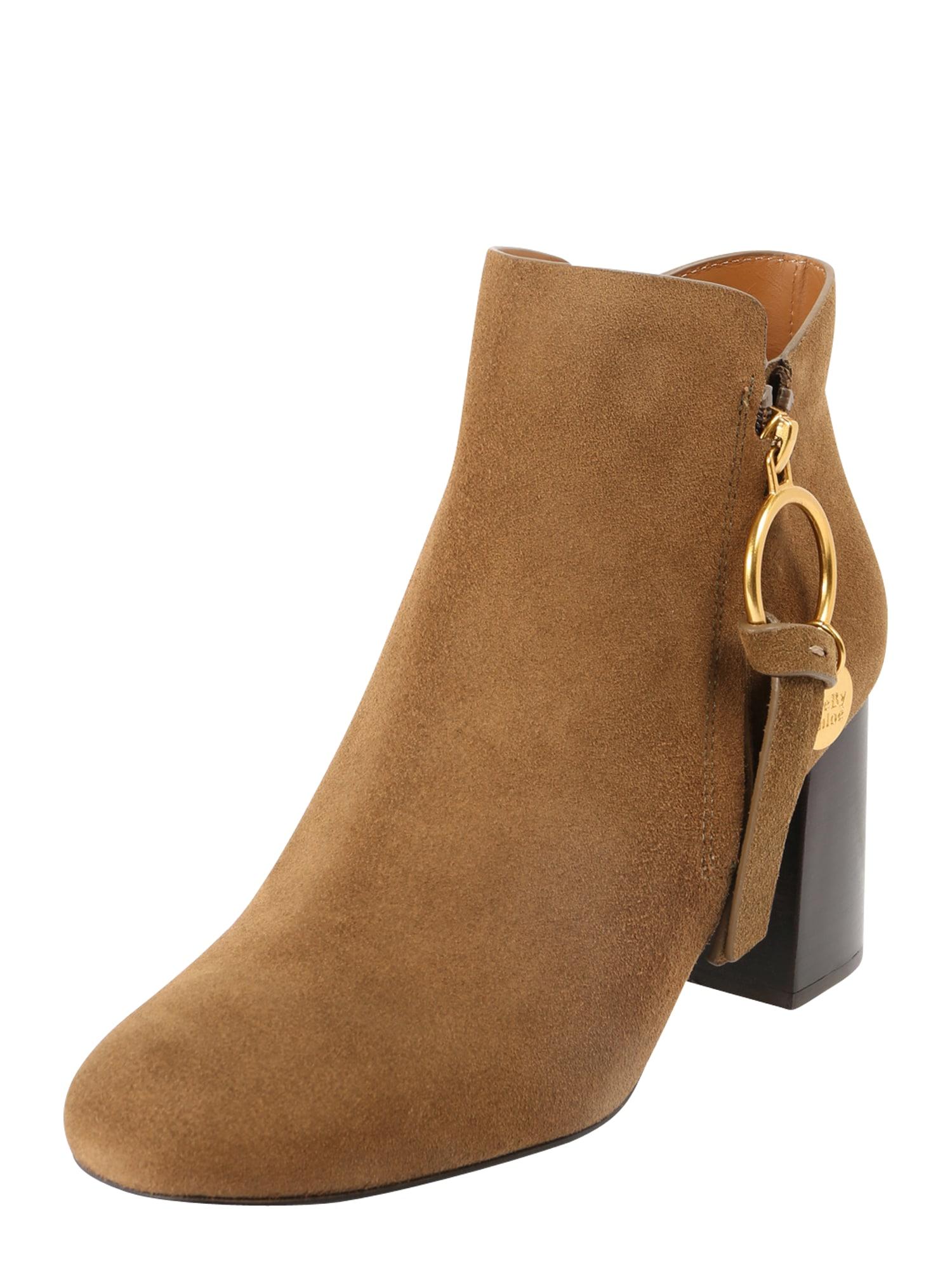 See by Chloé Kulkšnis dengiantys batai šviesiai ruda