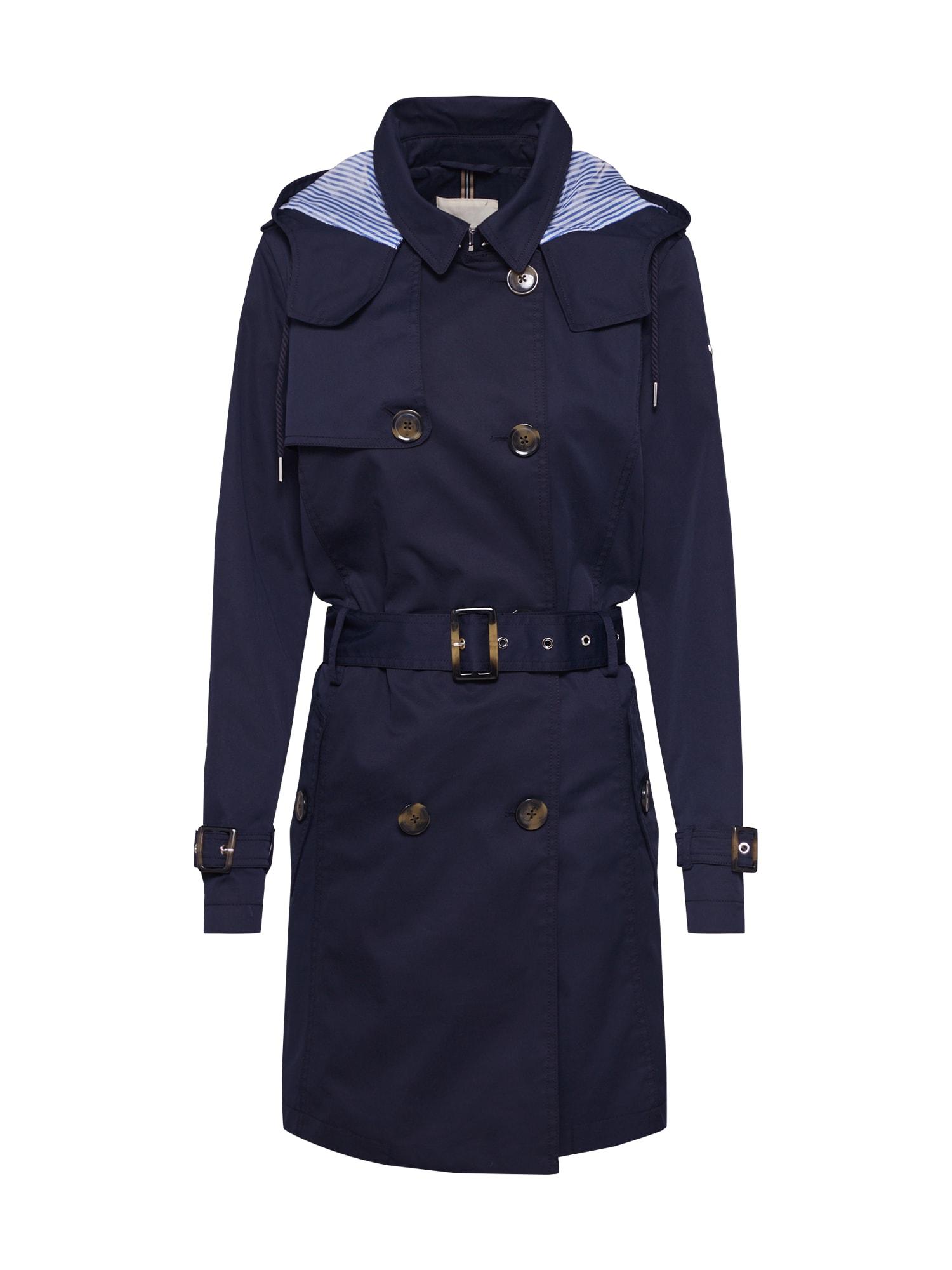 ESPRIT Rudeninis-žieminis paltas 'Classic Trench' tamsiai mėlyna