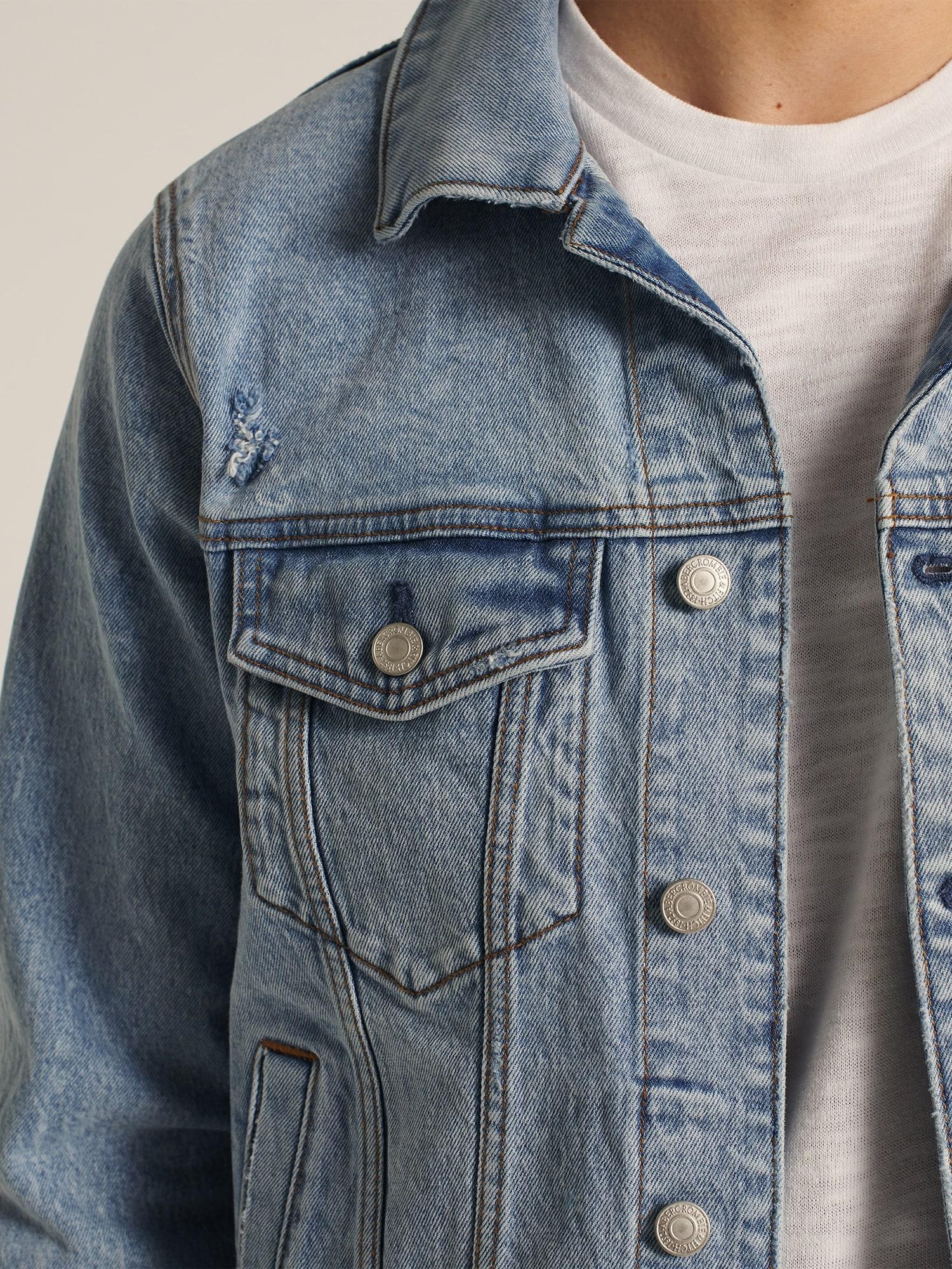 Abercrombie & Fitch Övergångsjacka  blå denim