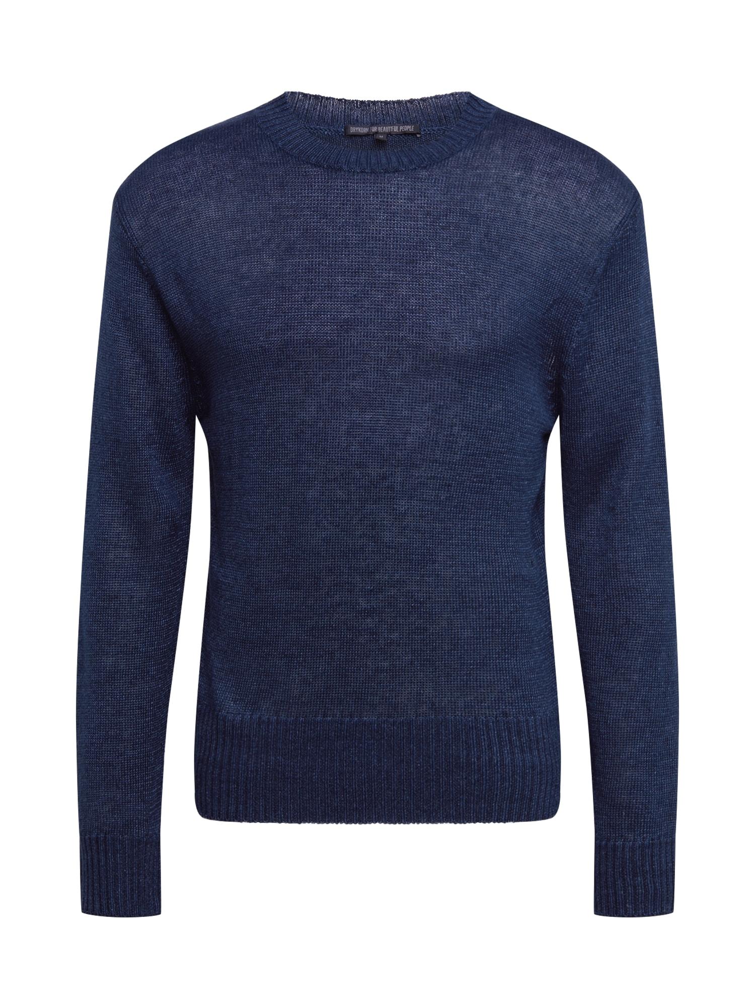 DRYKORN Megztinis 'VINCENT' tamsiai mėlyna