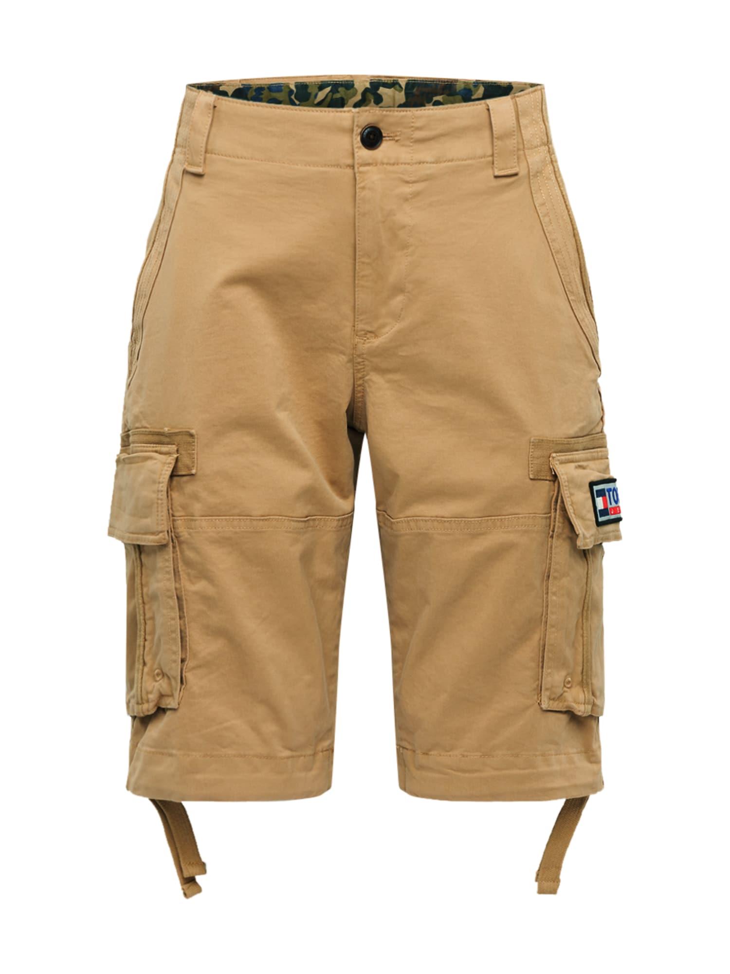 Tommy Jeans Laisvo stiliaus kelnės 'SOLID' rusvai žalia