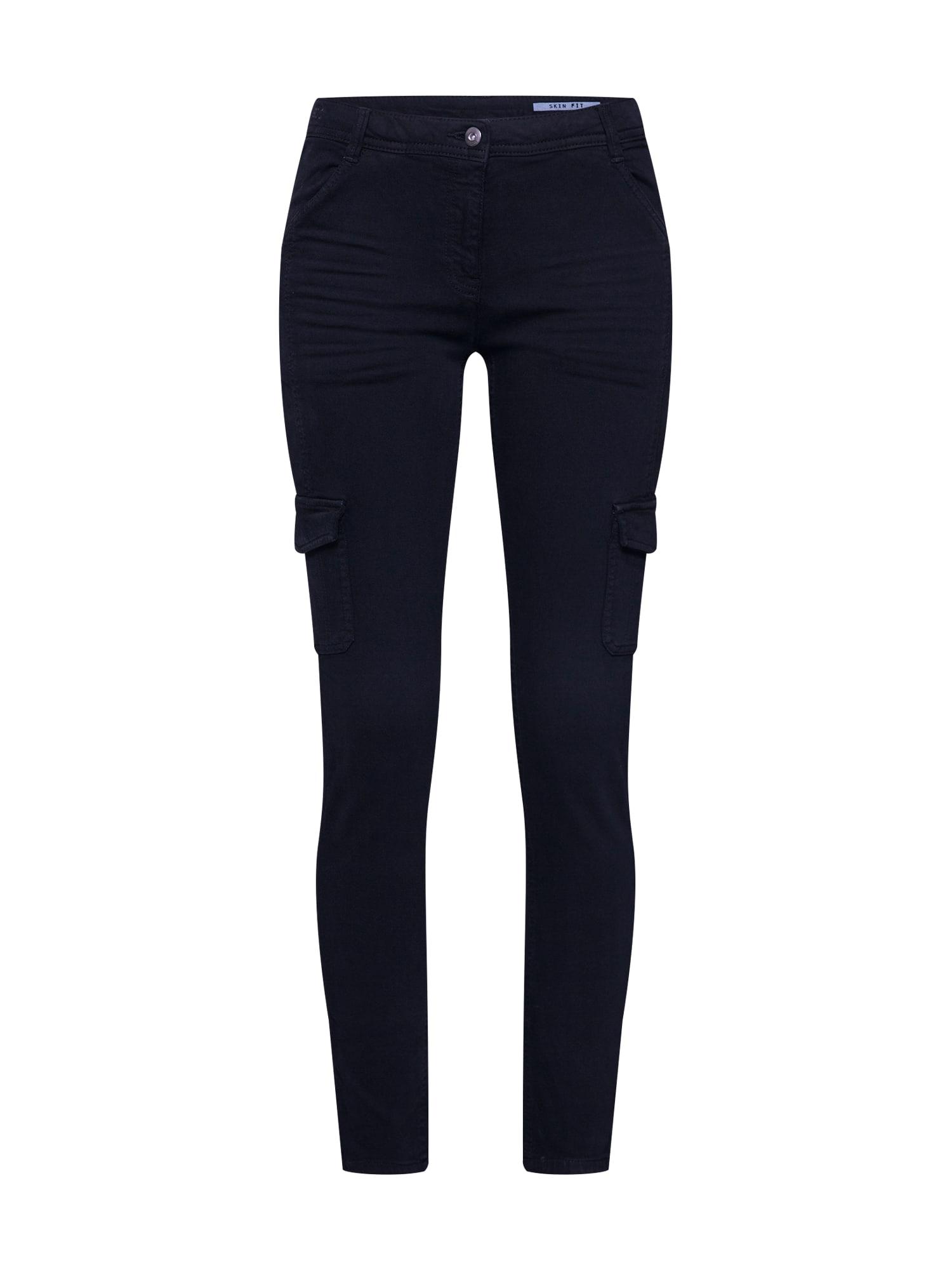EDC BY ESPRIT Laisvo stiliaus kelnės juoda