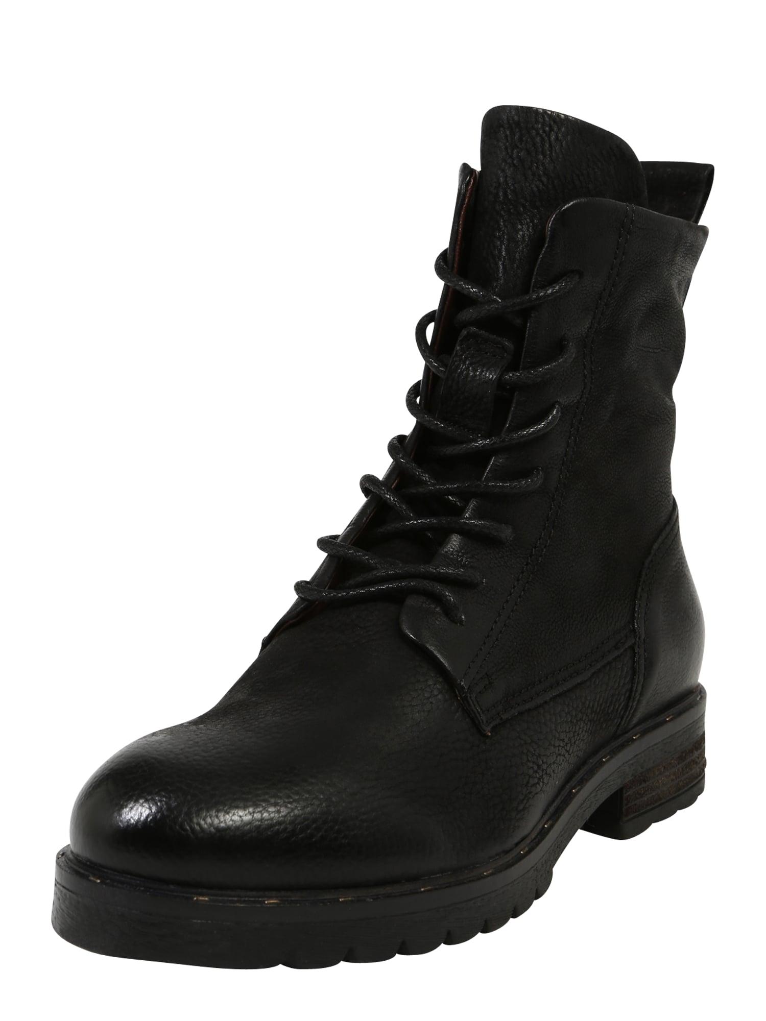 MJUS Suvarstomieji kulkšnis dengiantys batai juoda