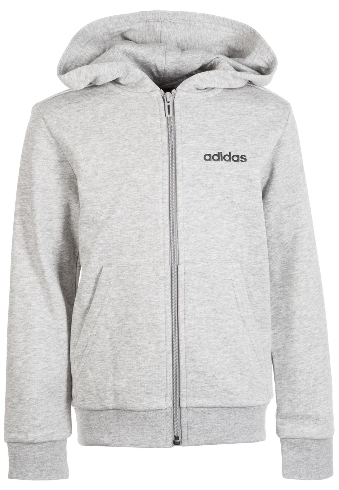 ADIDAS PERFORMANCE Sportinis džemperis juoda / margai pilka