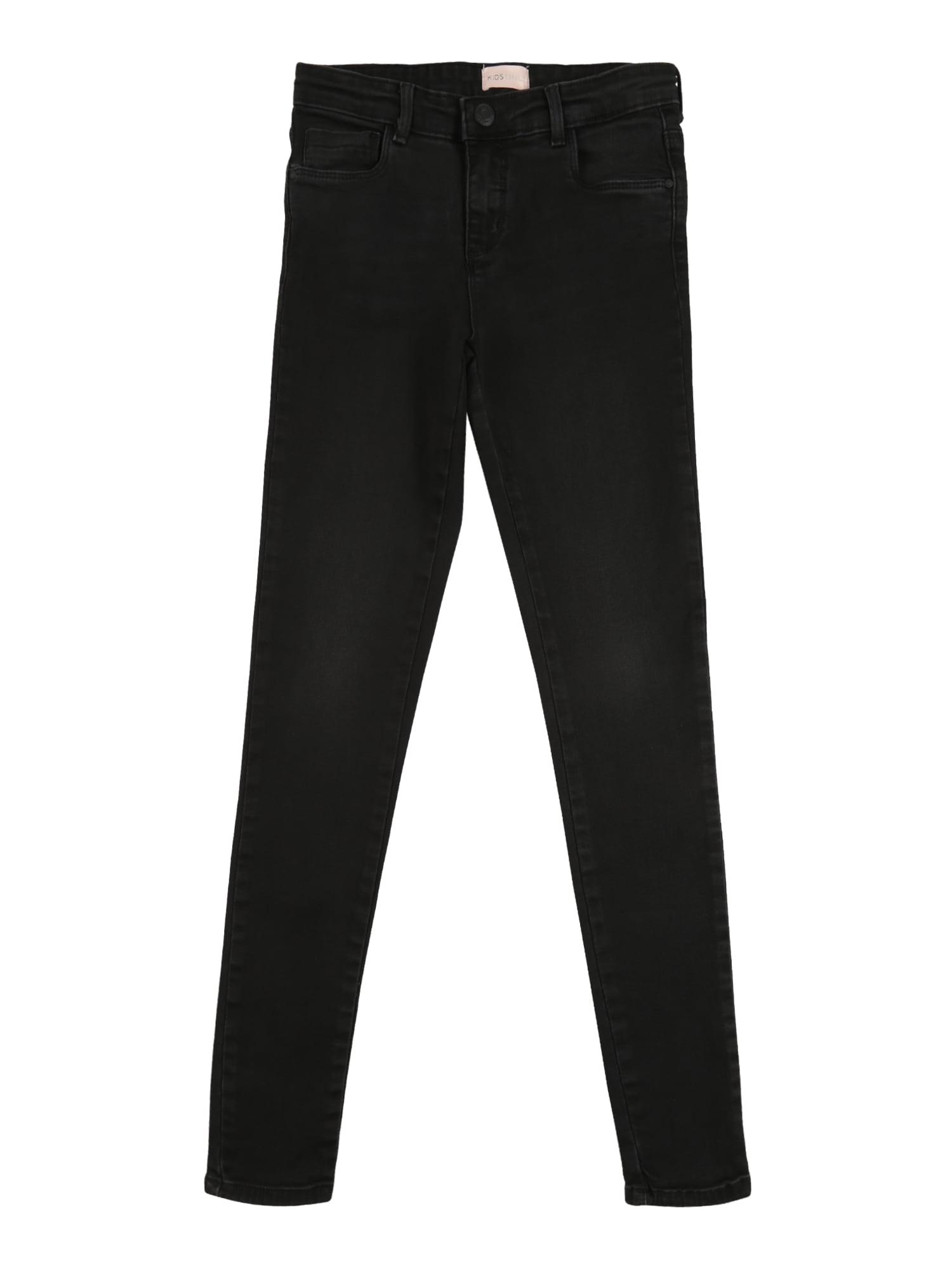 KIDS ONLY Džinsai 'KONRACHEL' juodo džinso spalva