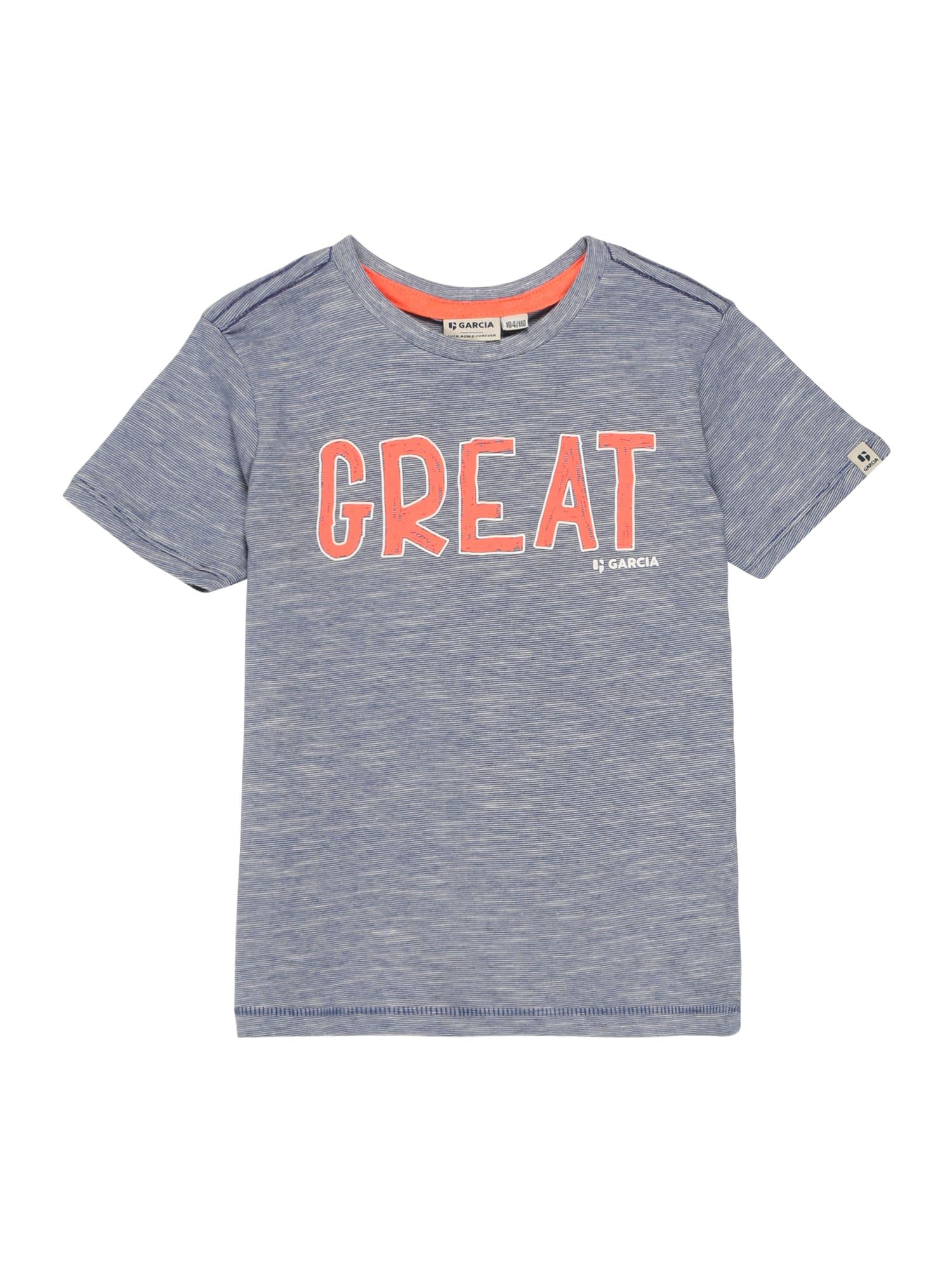 GARCIA Tričko  s modrými škvrnami / oranžová
