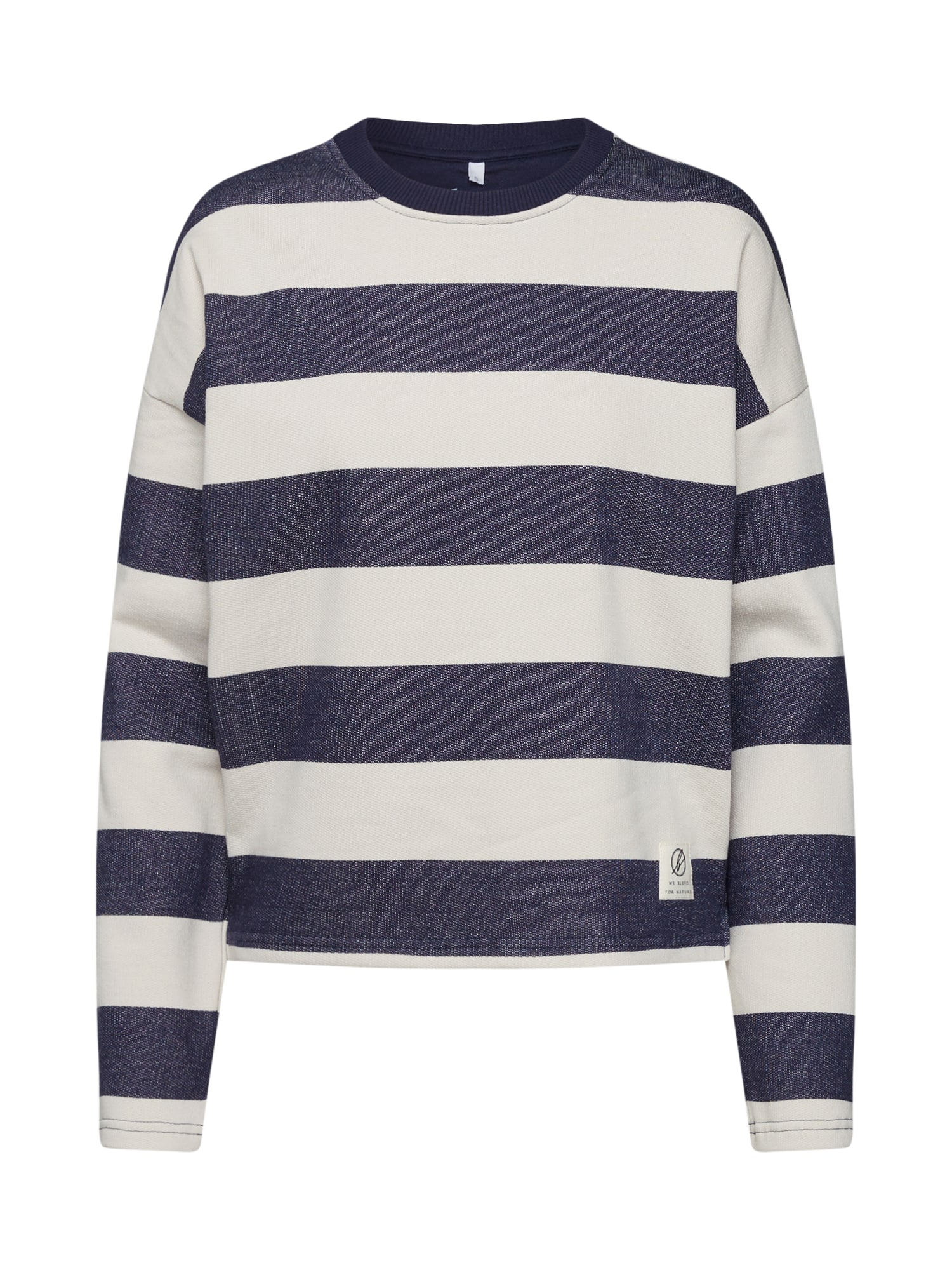 bleed clothing Megztinis be užsegimo 'Captains Sweater' kremo / mėlyna