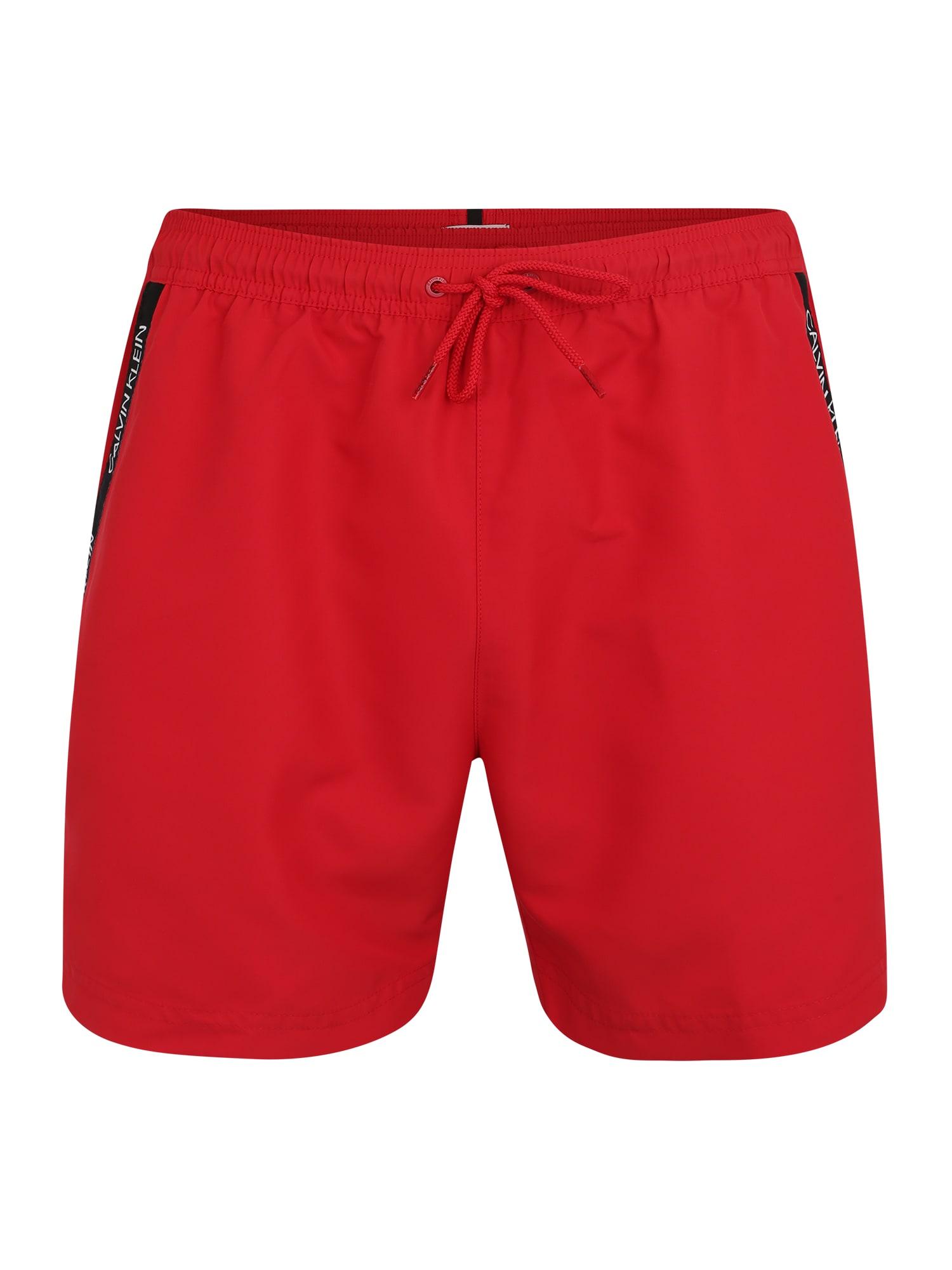 Plavky MEDIUM DRAWSTRING červená Calvin Klein Swimwear