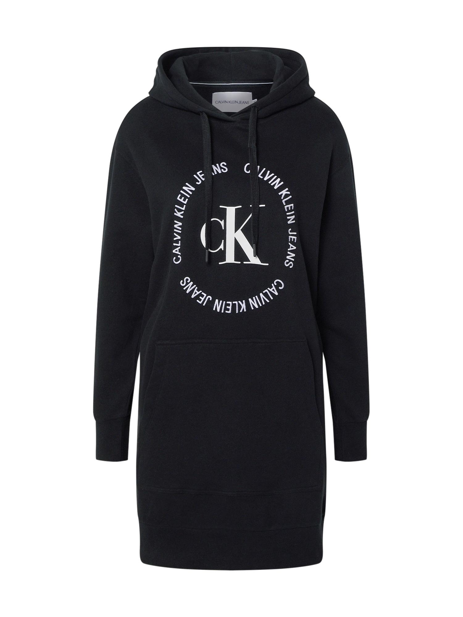 Calvin Klein Jeans Suknelė balta / juoda