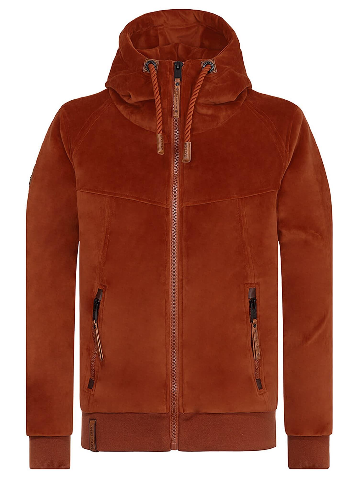 naketano Flisinis džemperis 'Surviving Is A Spirit' rūdžių raudona