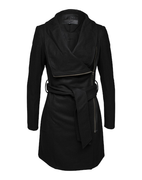 Jacken für Frauen - Mbym Asymmetrischer Mantel 'Mika' schwarz  - Onlineshop ABOUT YOU
