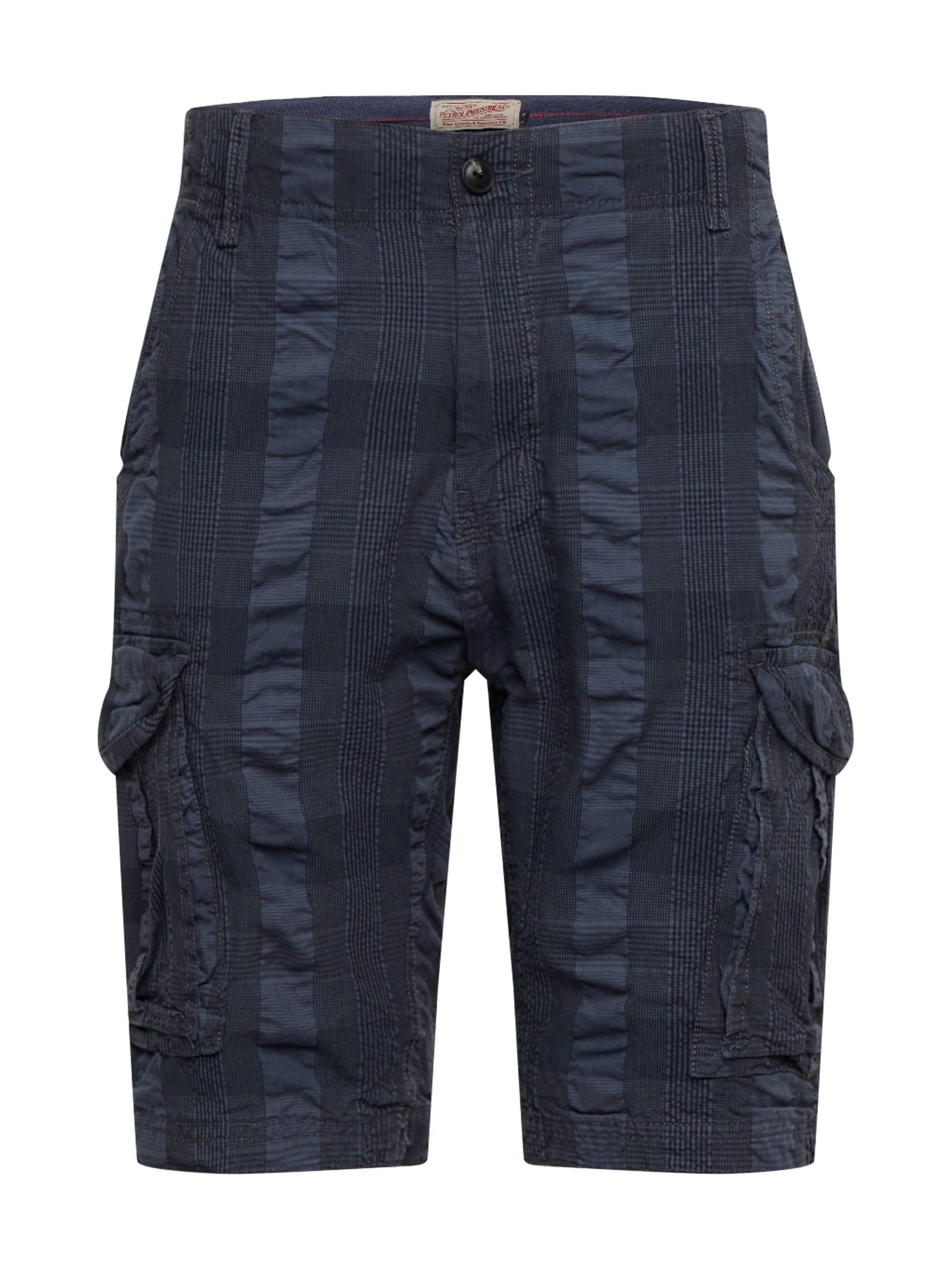 Petrol Industries Laisvo stiliaus kelnės mėlyna / pilka