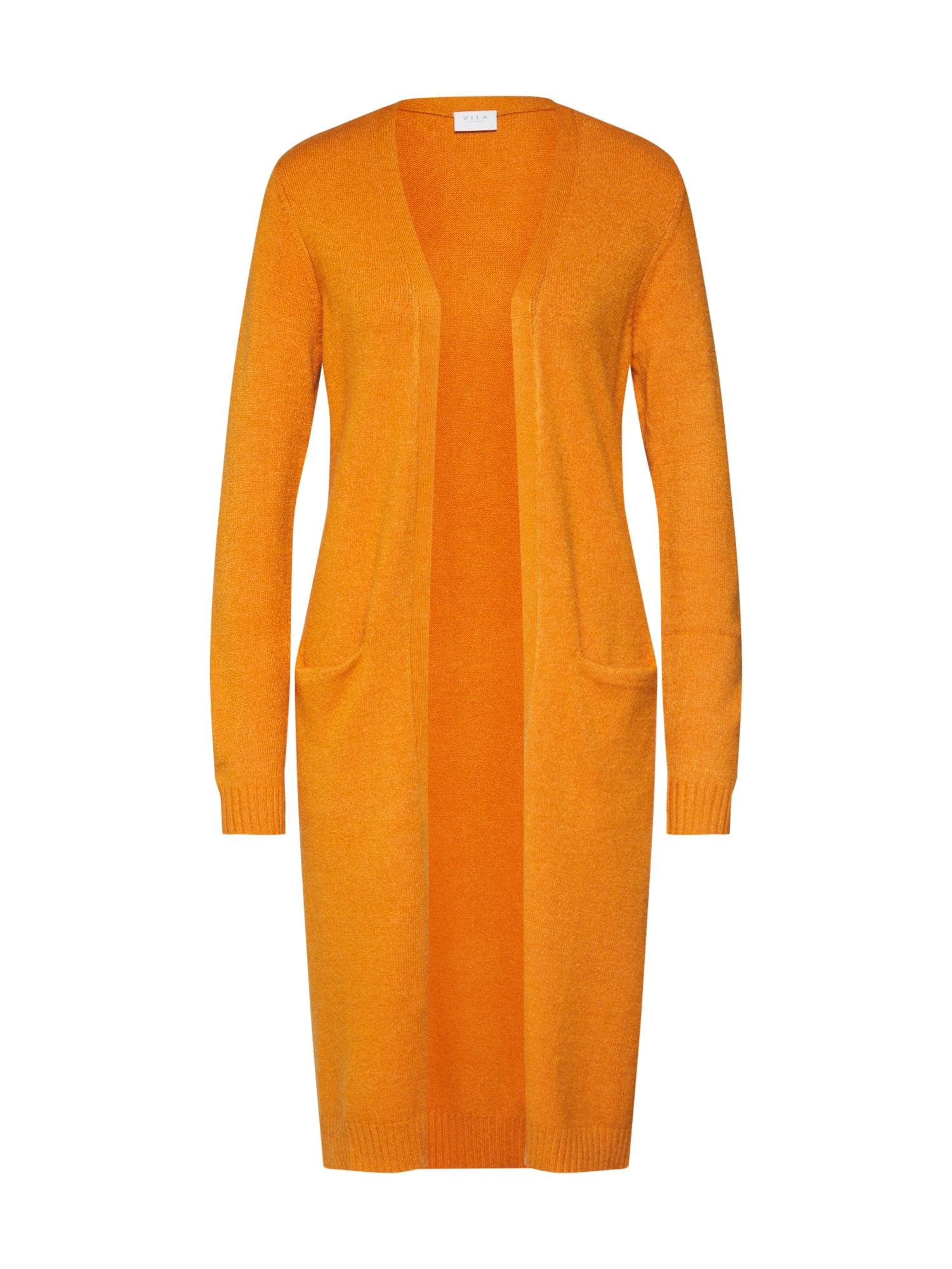 Pletený kabátek Ril oranžová VILA