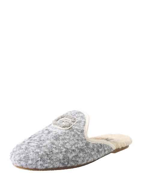Hausschuhe für Frauen - GANT Pantoffel 'Lazy' hellgrau  - Onlineshop ABOUT YOU