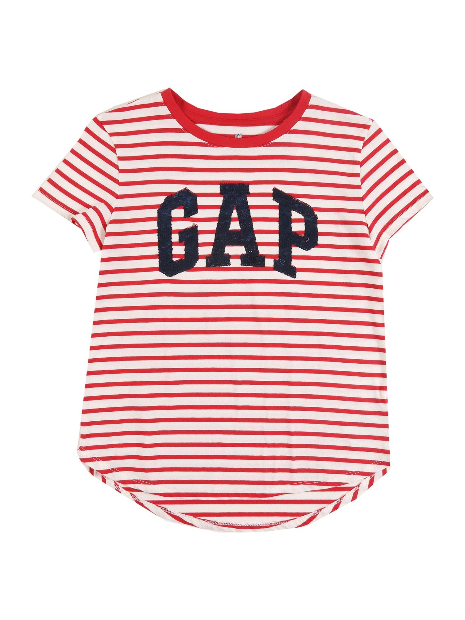 GAP Marškinėliai raudona / balta