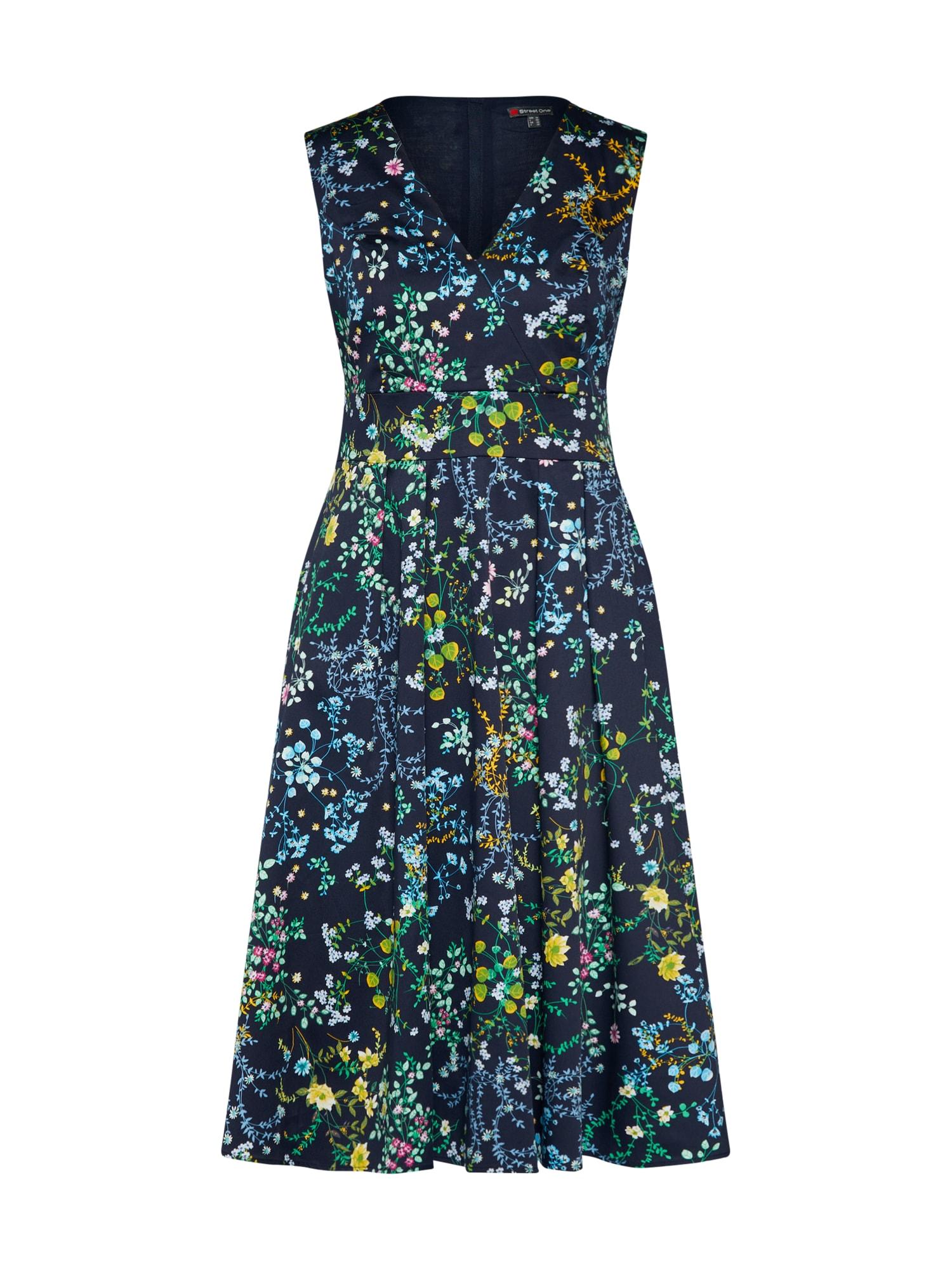 Šaty námořnická modř mix barev STREET ONE