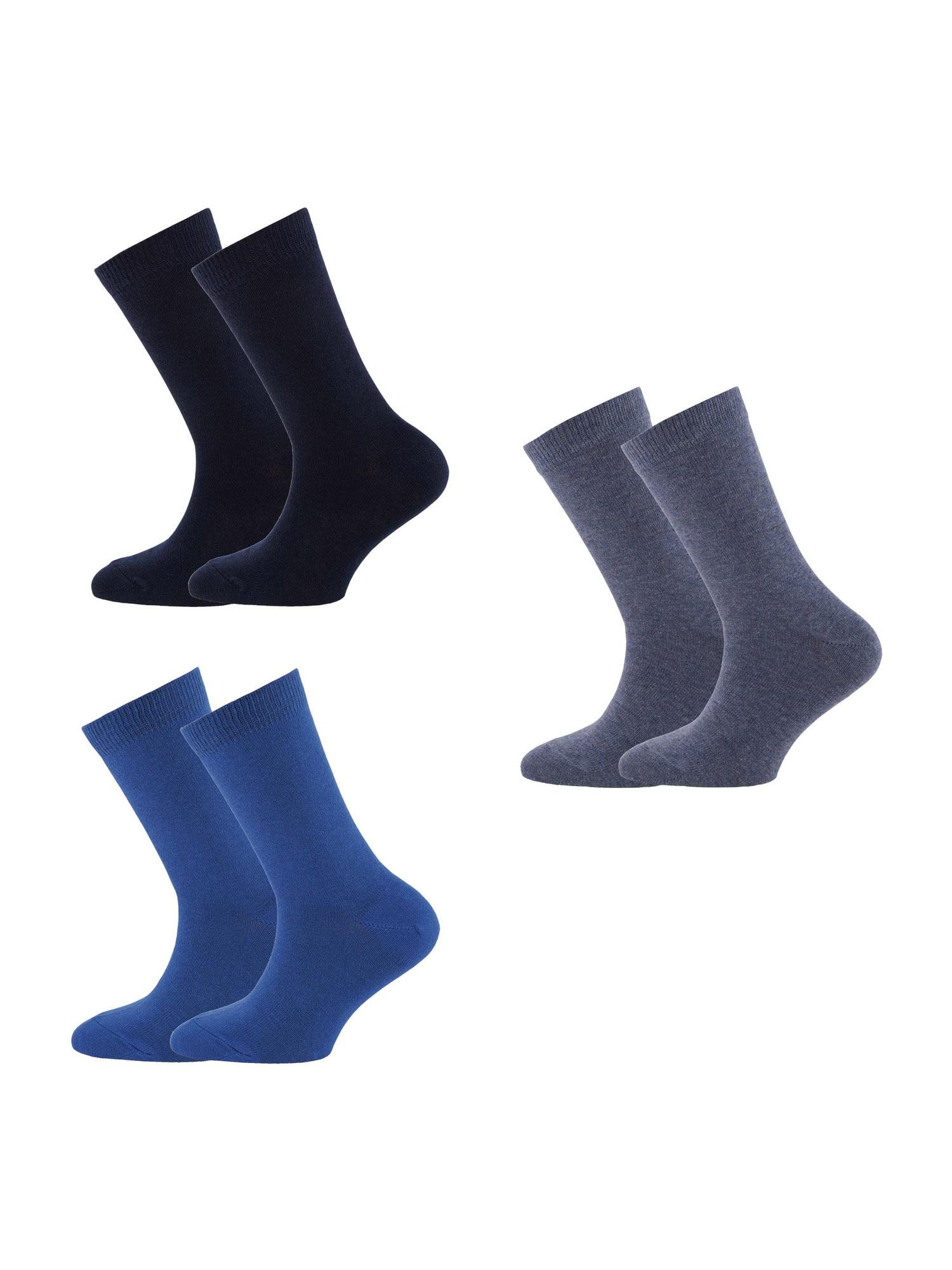 EWERS Ponožky  čierna / námornícka modrá / sivá melírovaná