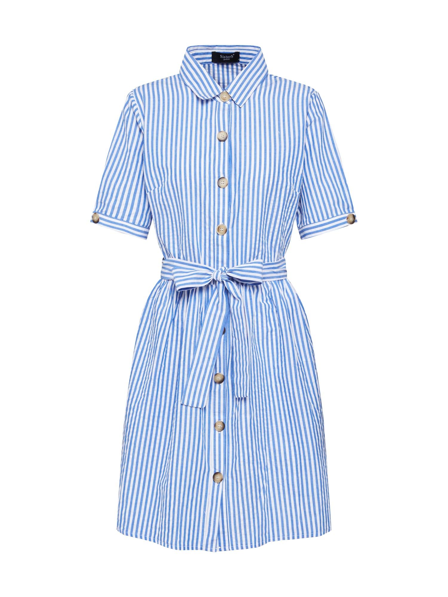 Košilové šaty NUTTI-1 modrá bílá SISTERS POINT