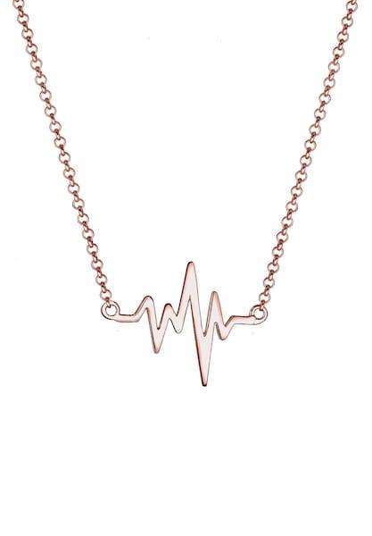 Ketten für Frauen - ELLI Halskette 'Herzschlag' rosegold  - Onlineshop ABOUT YOU