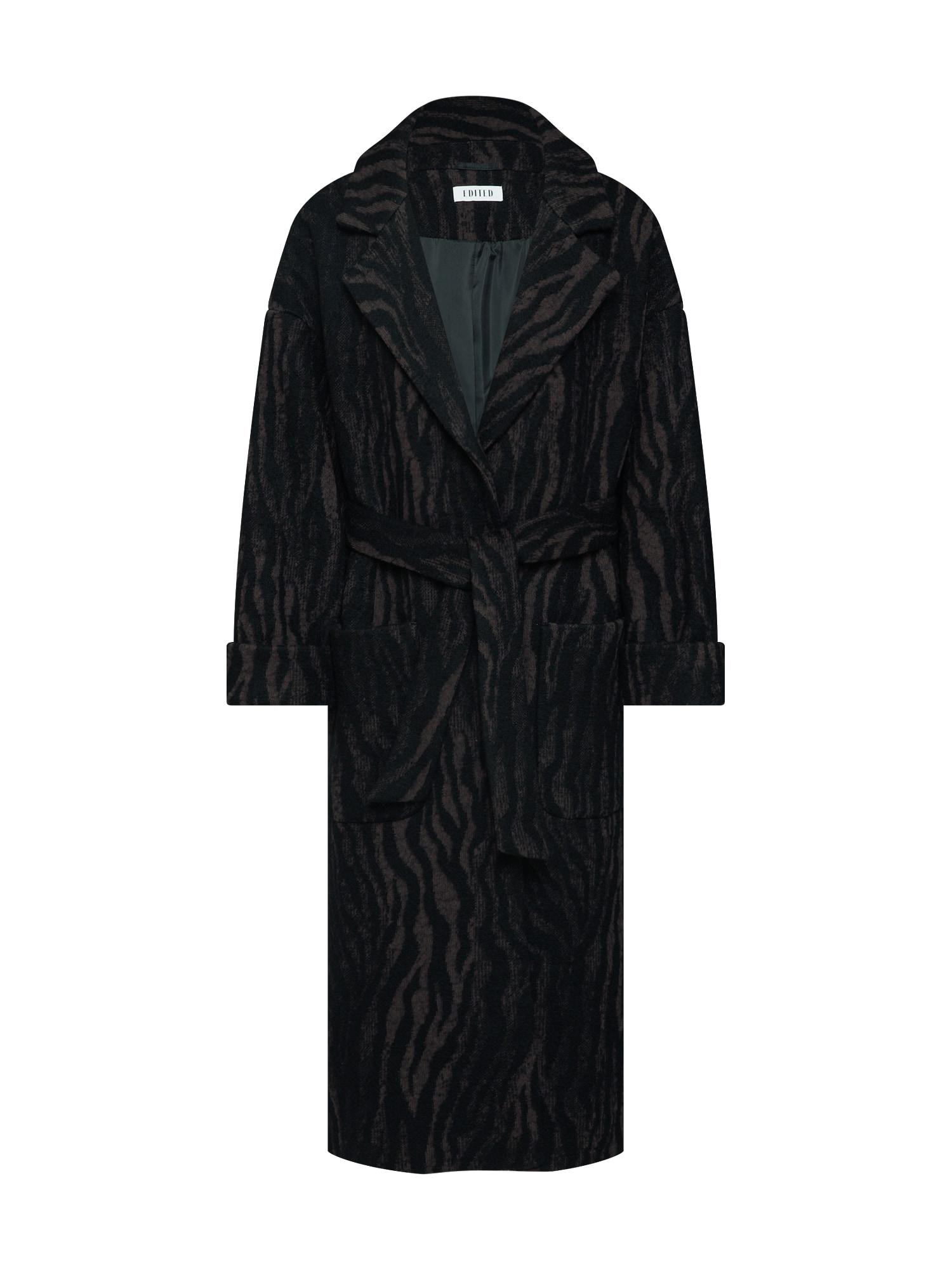 EDITED Rudeninis-žieminis paltas 'Santo' ruda / juoda