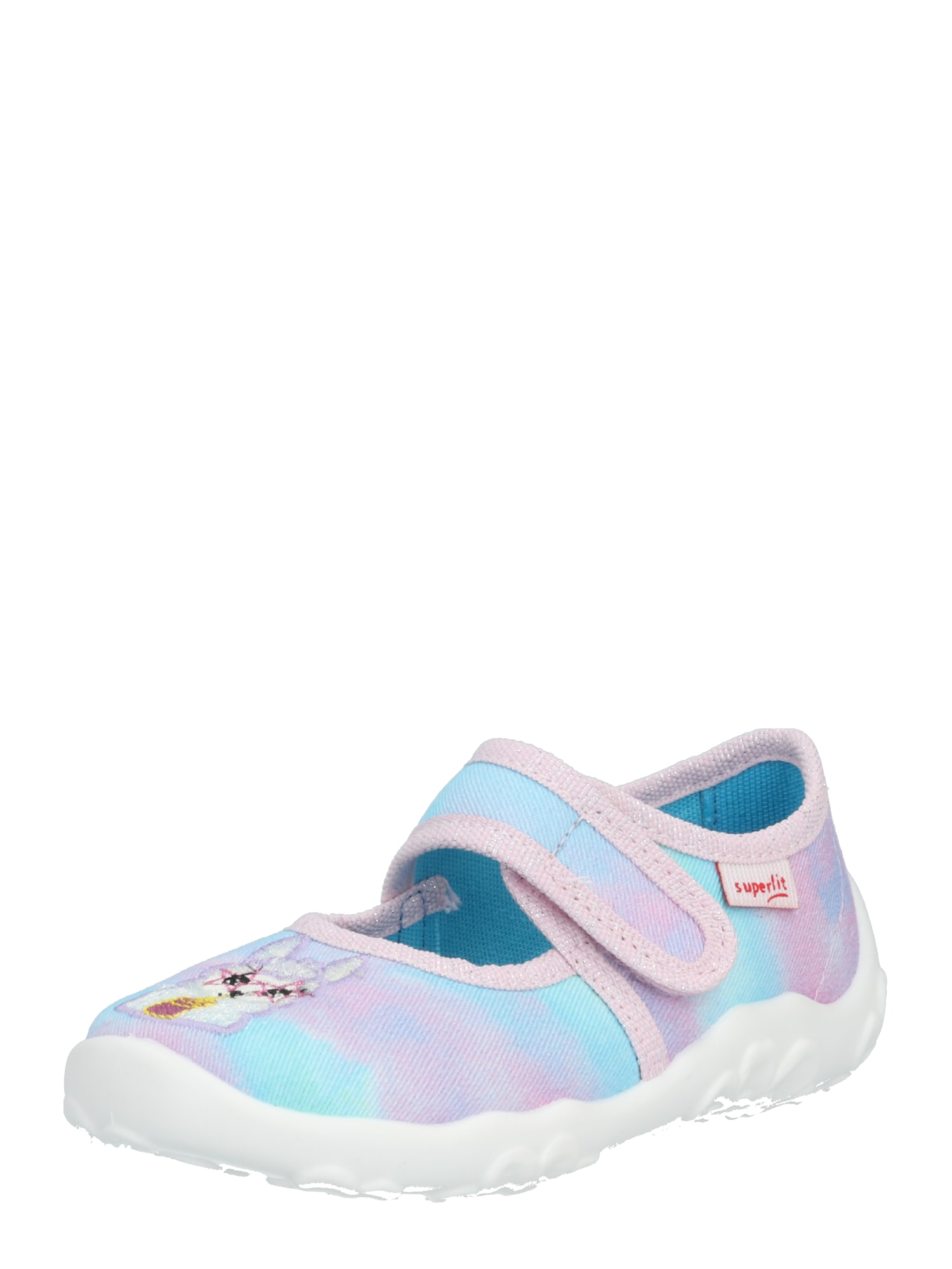 SUPERFIT Baleríny 'BONNY'  aqua modrá / pink / fialová / bílá / žlutá