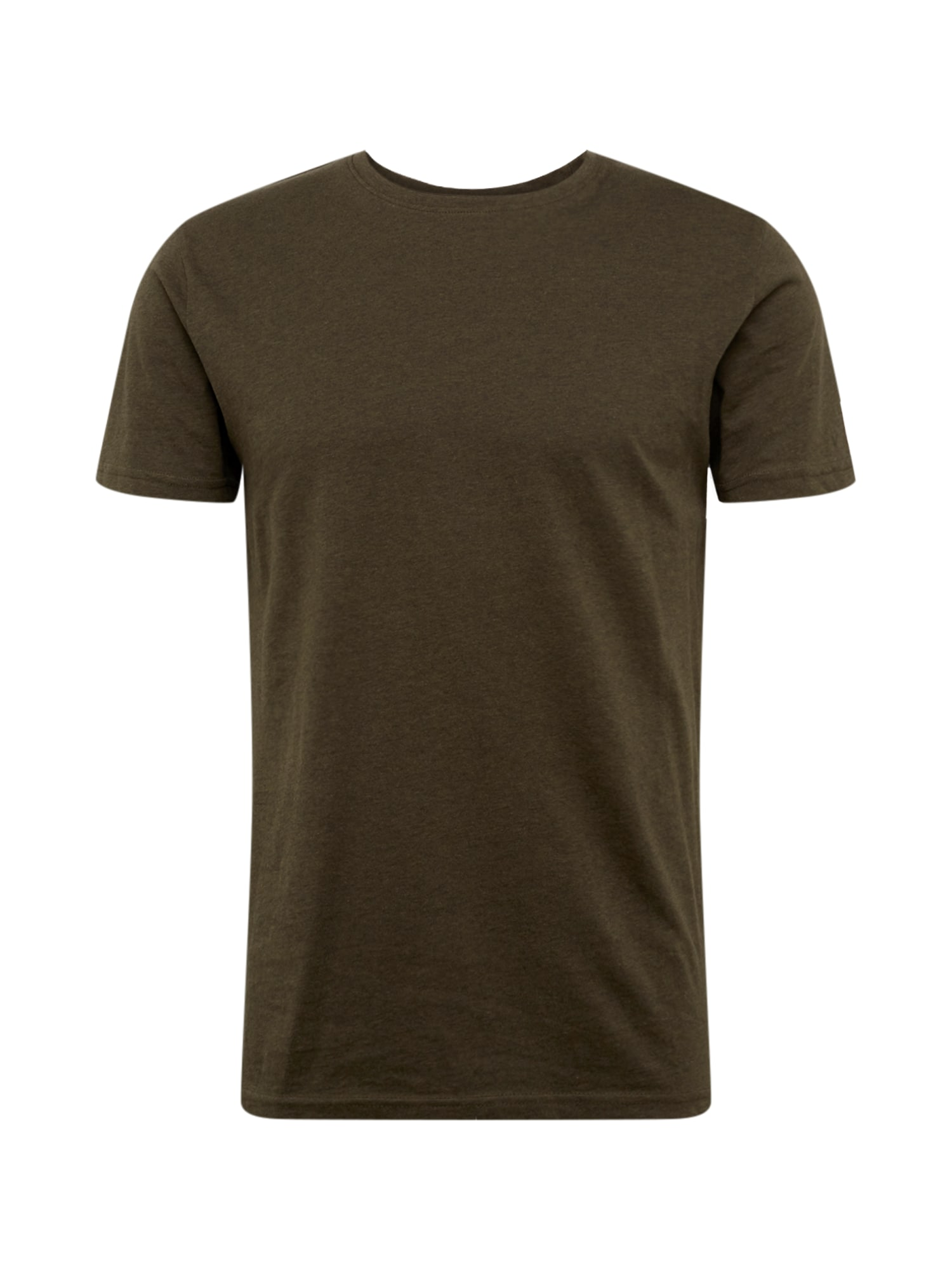 !Solid Marškinėliai alyvuogių spalva