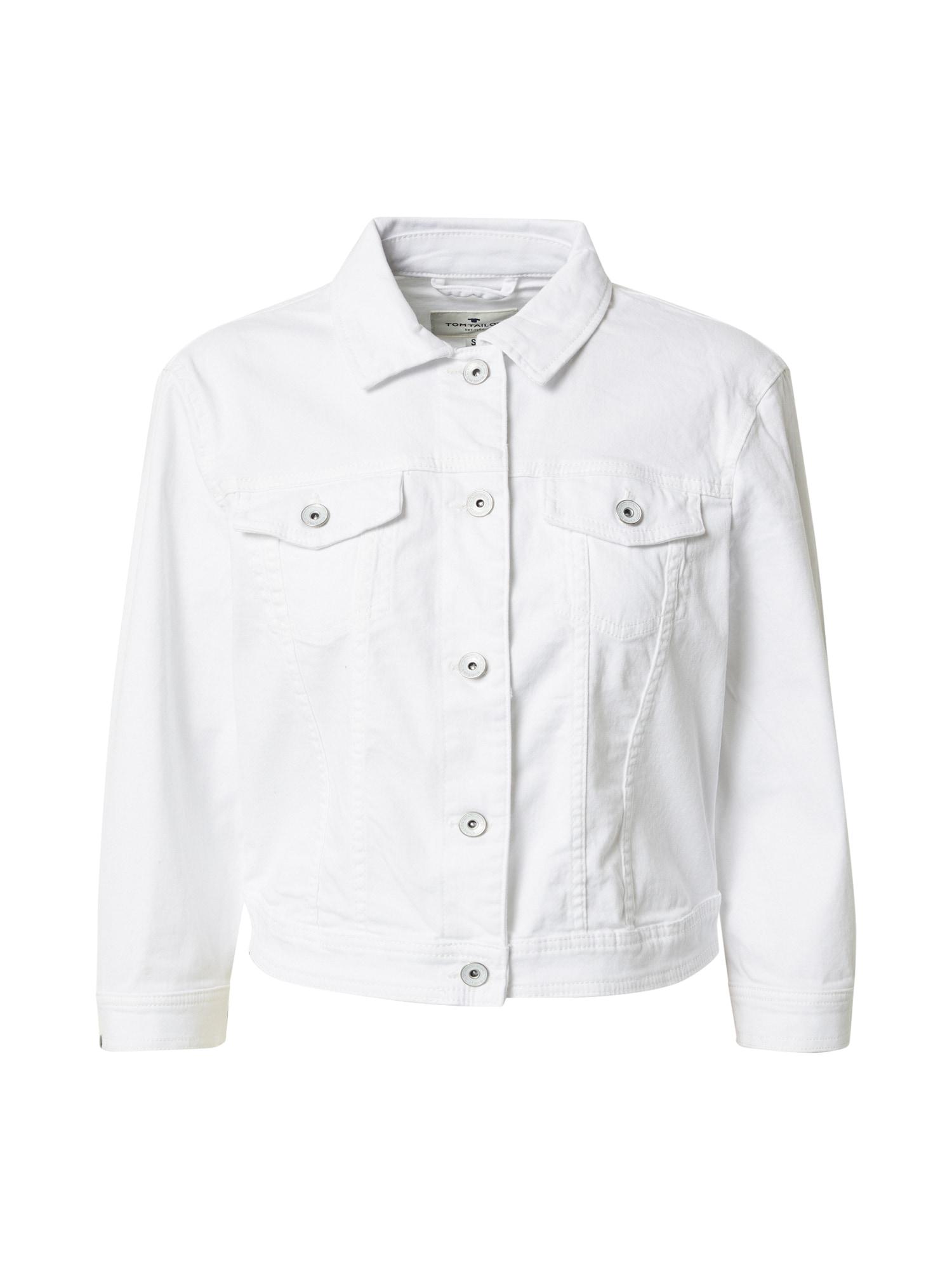 TOM TAILOR Demisezoninė striukė balto džinso spalva